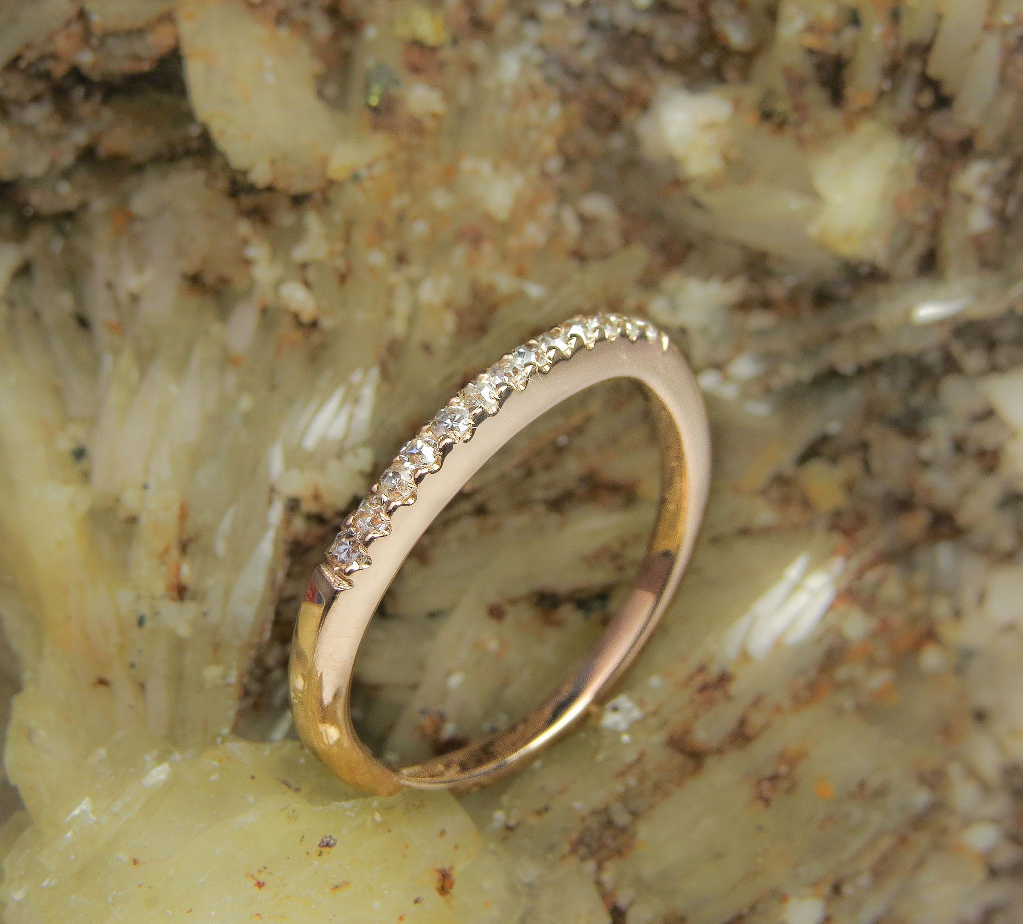 14kt rosé goud met Diamant