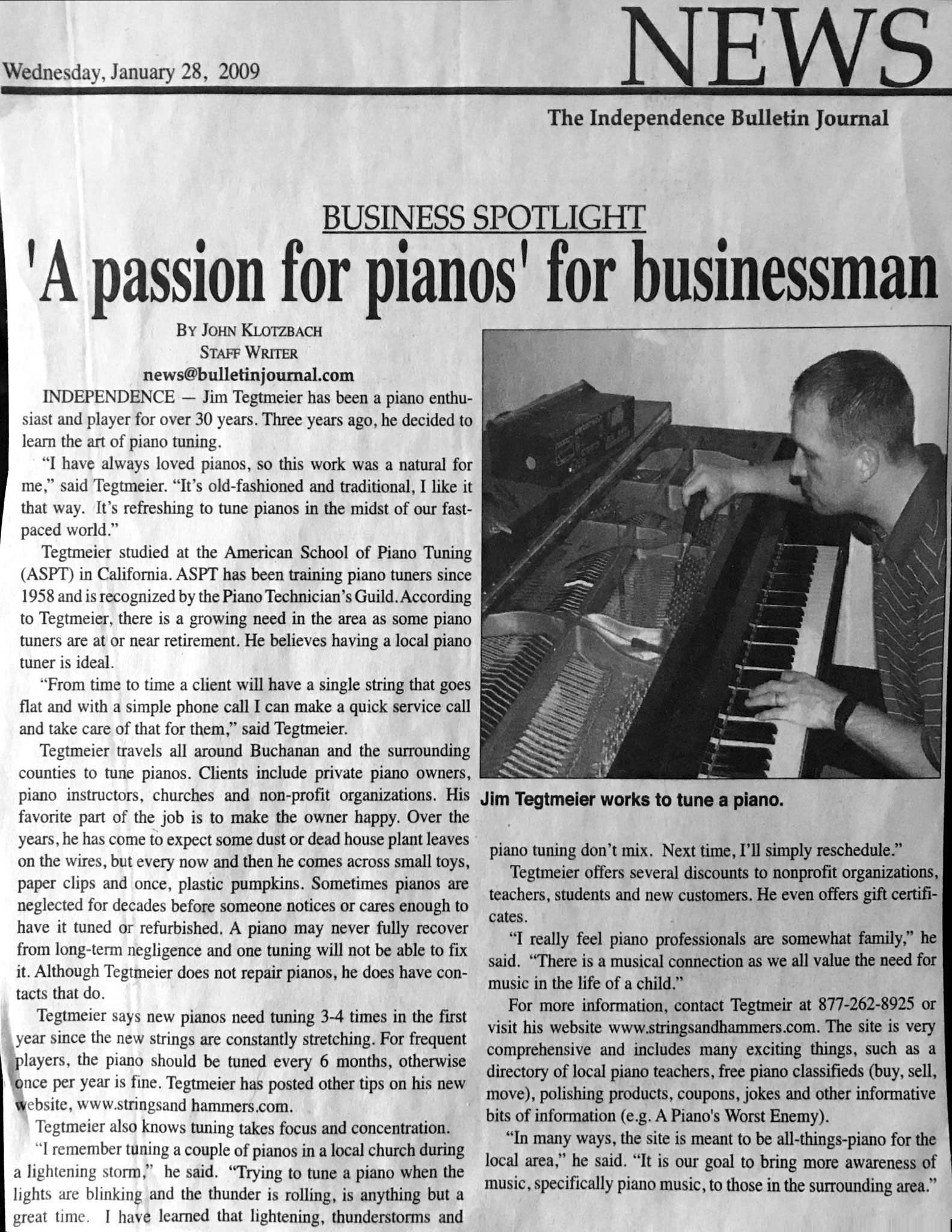 January 28, 2009 Business Spotlight