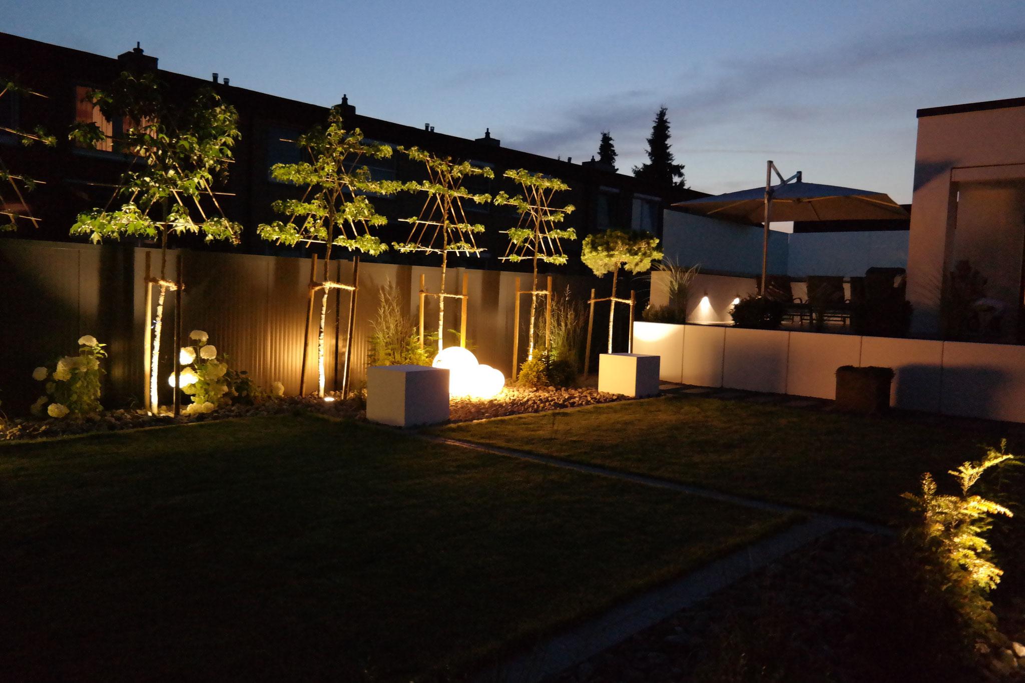 Garten beleuchtet 5
