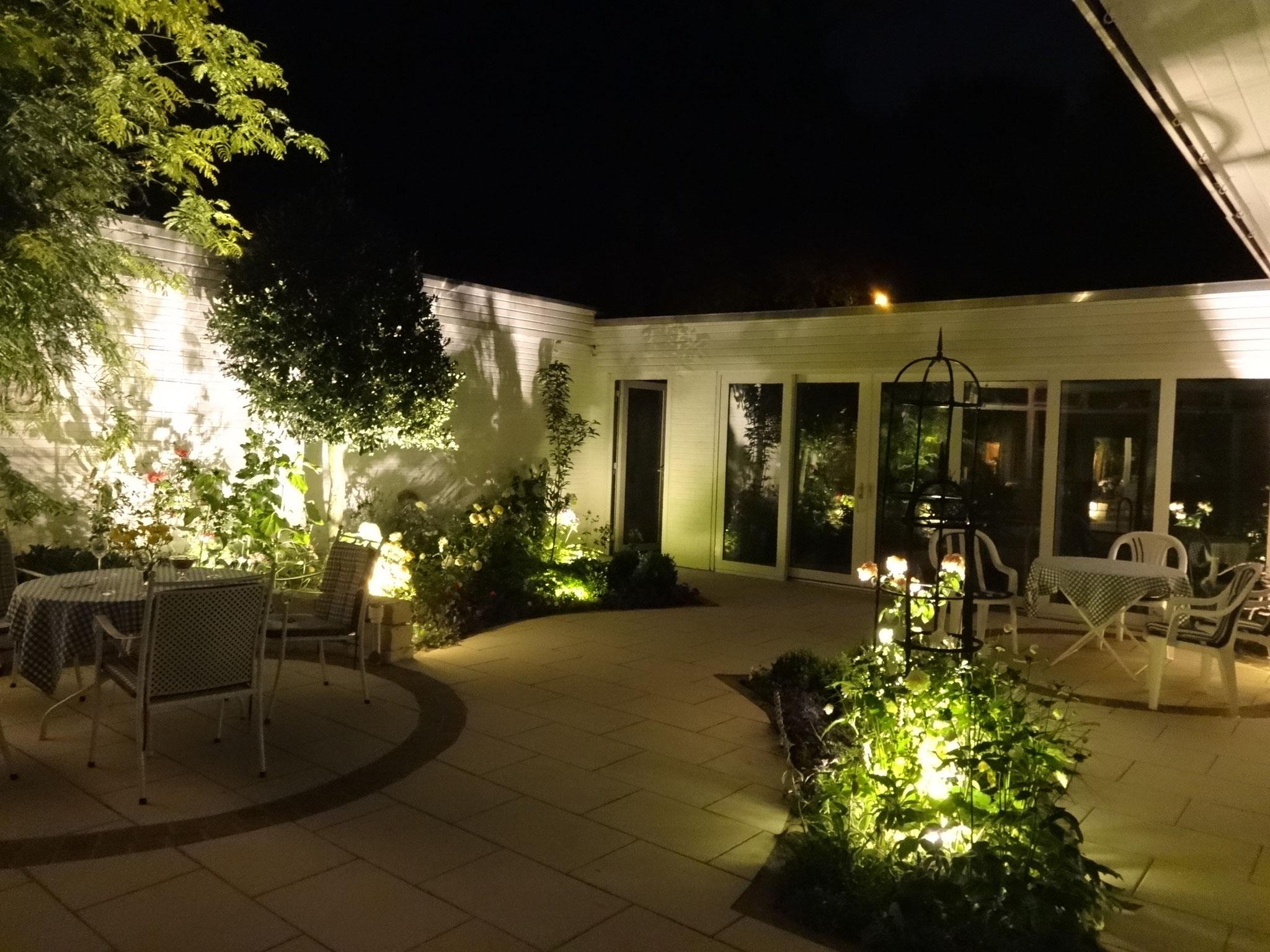 Garten beleuchtet 1