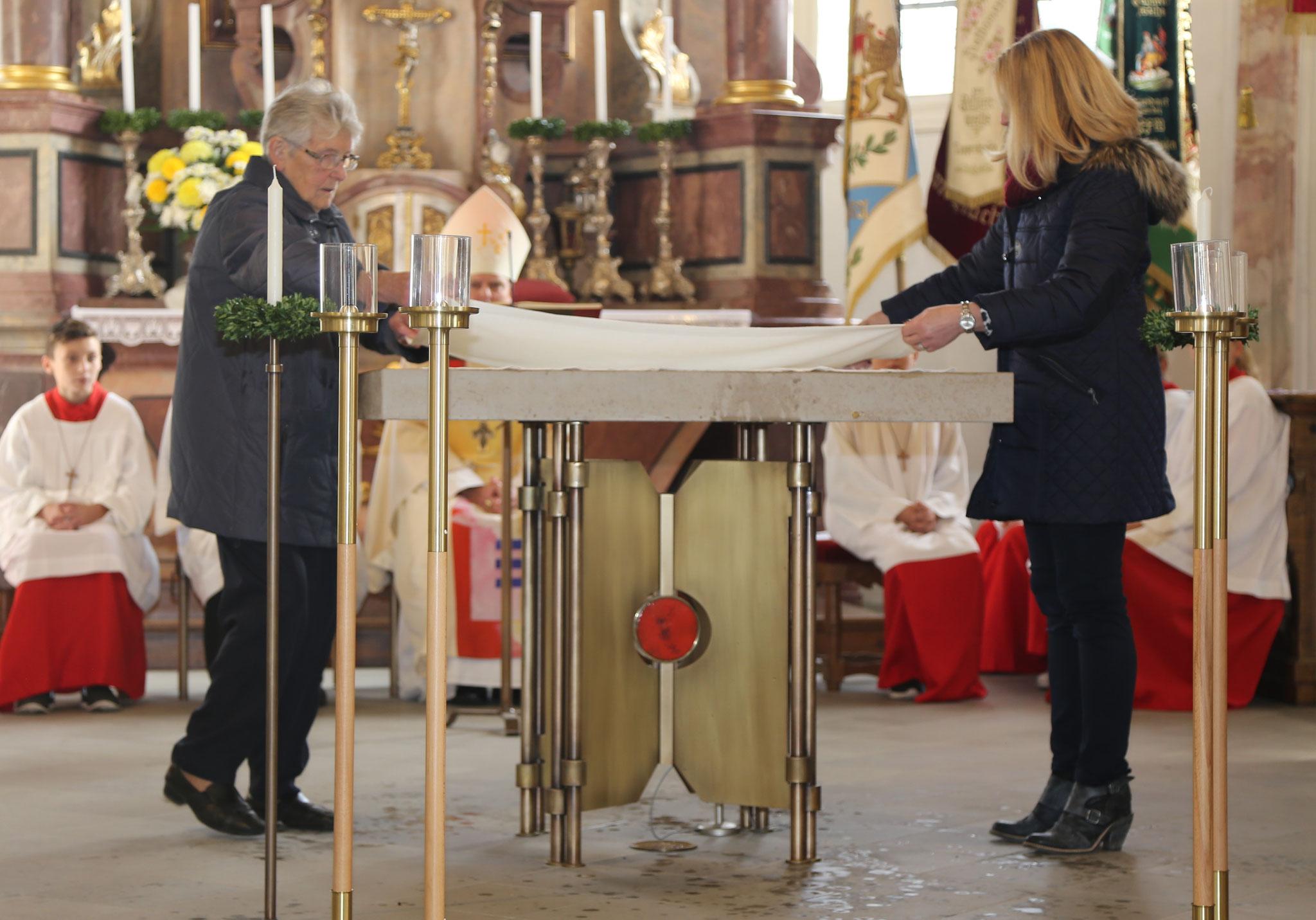 Bereitung des Altares