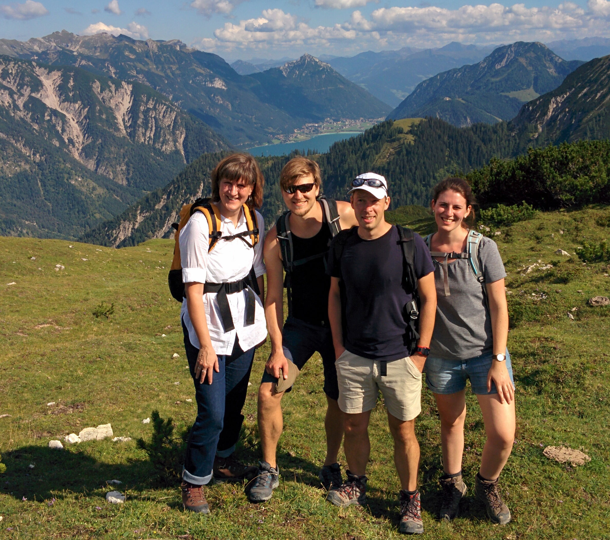 Lab day out to the Karwendelgebirge (mountains in Austria) - summer 2016