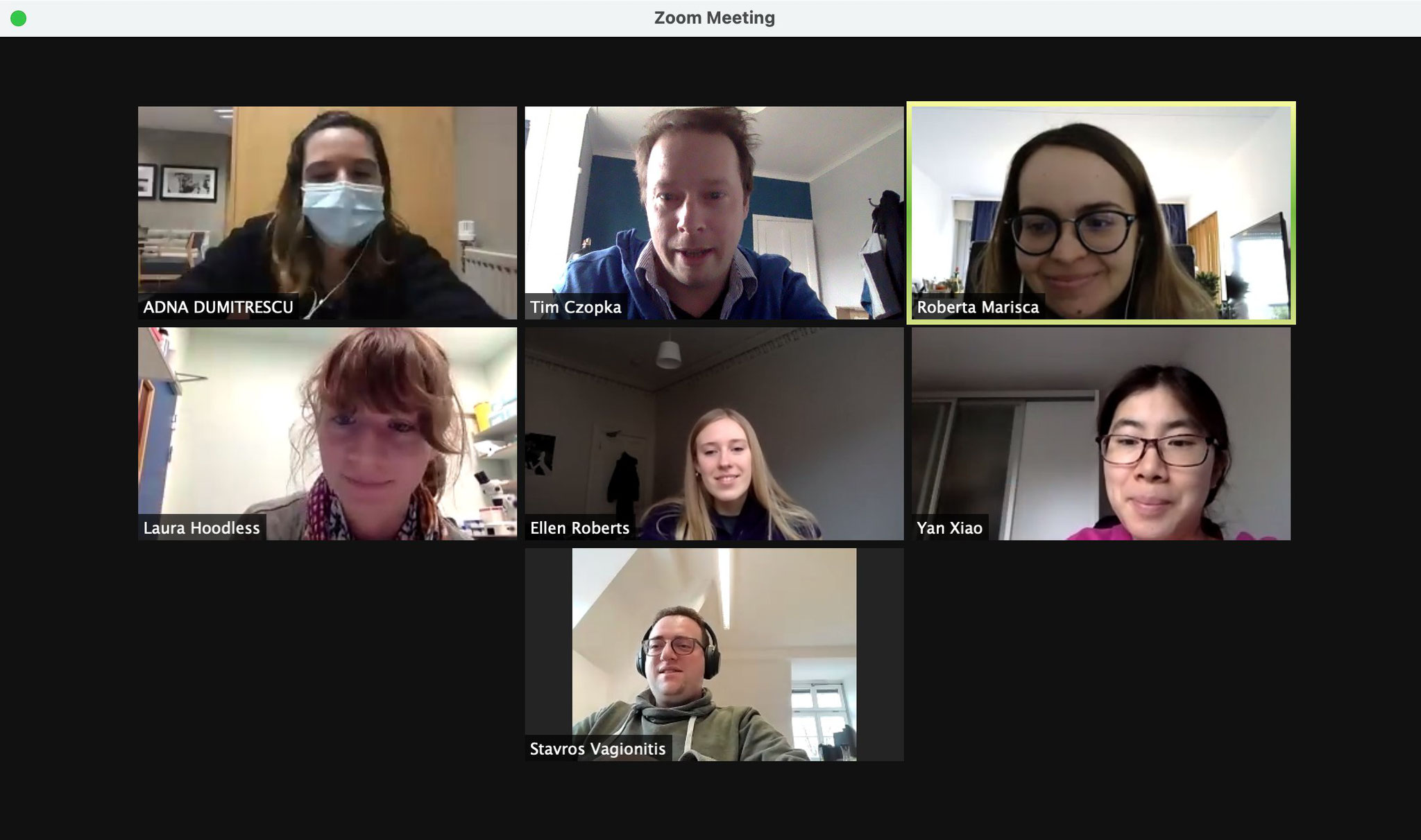 Group meeting during lockdown