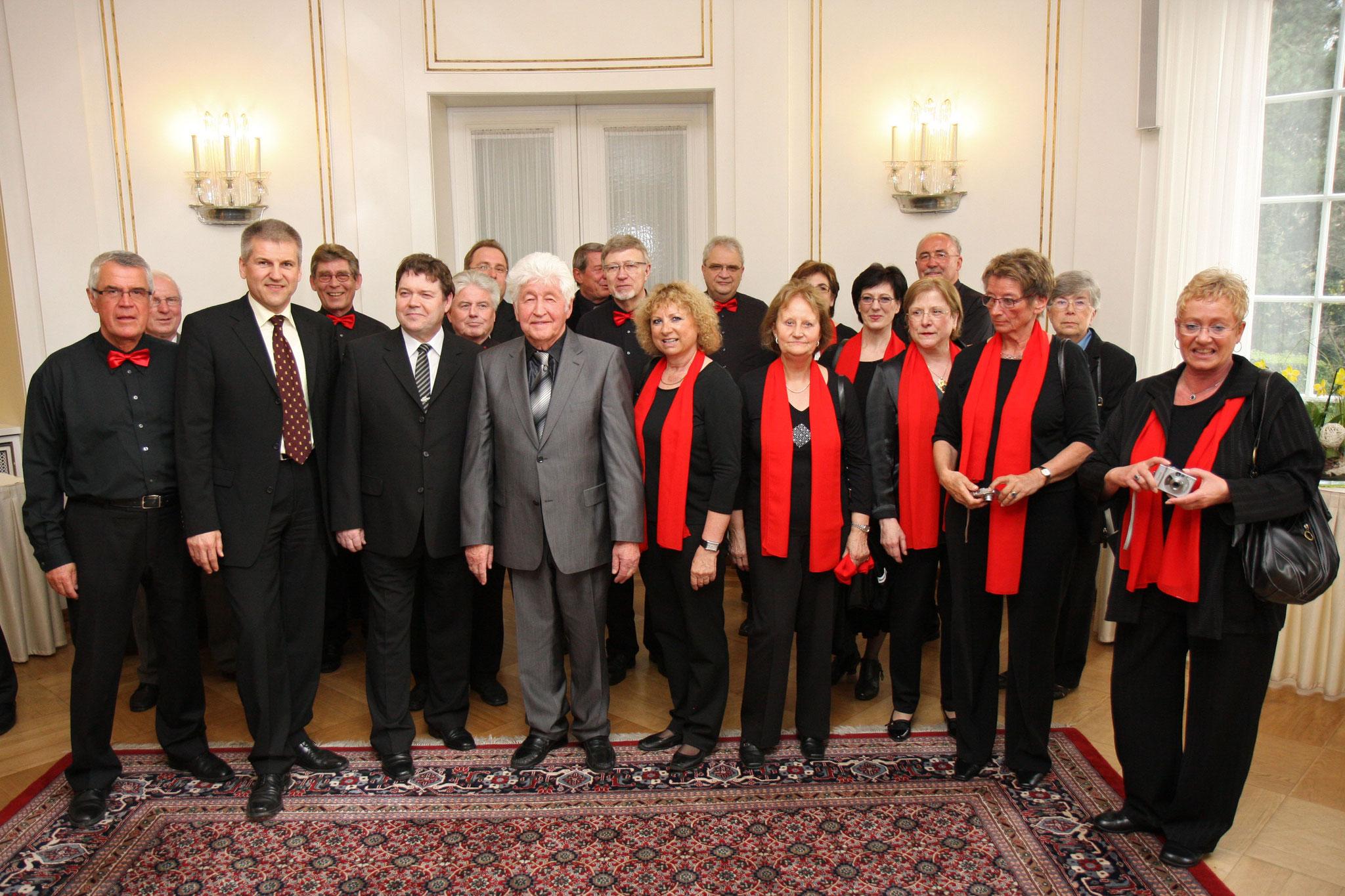 Gäste beim Empfang Villa Reitzenstein