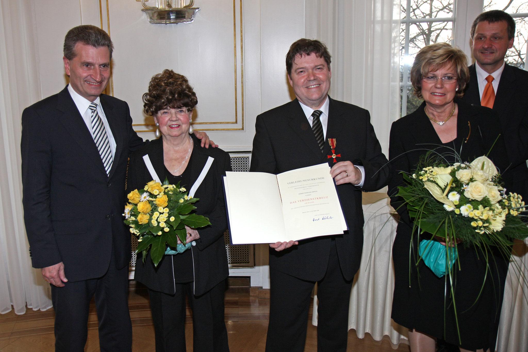 MP G.H. Oettinger - Hilde Dippon - Werner Dippon - Inge Dippon - H.U. Rülke