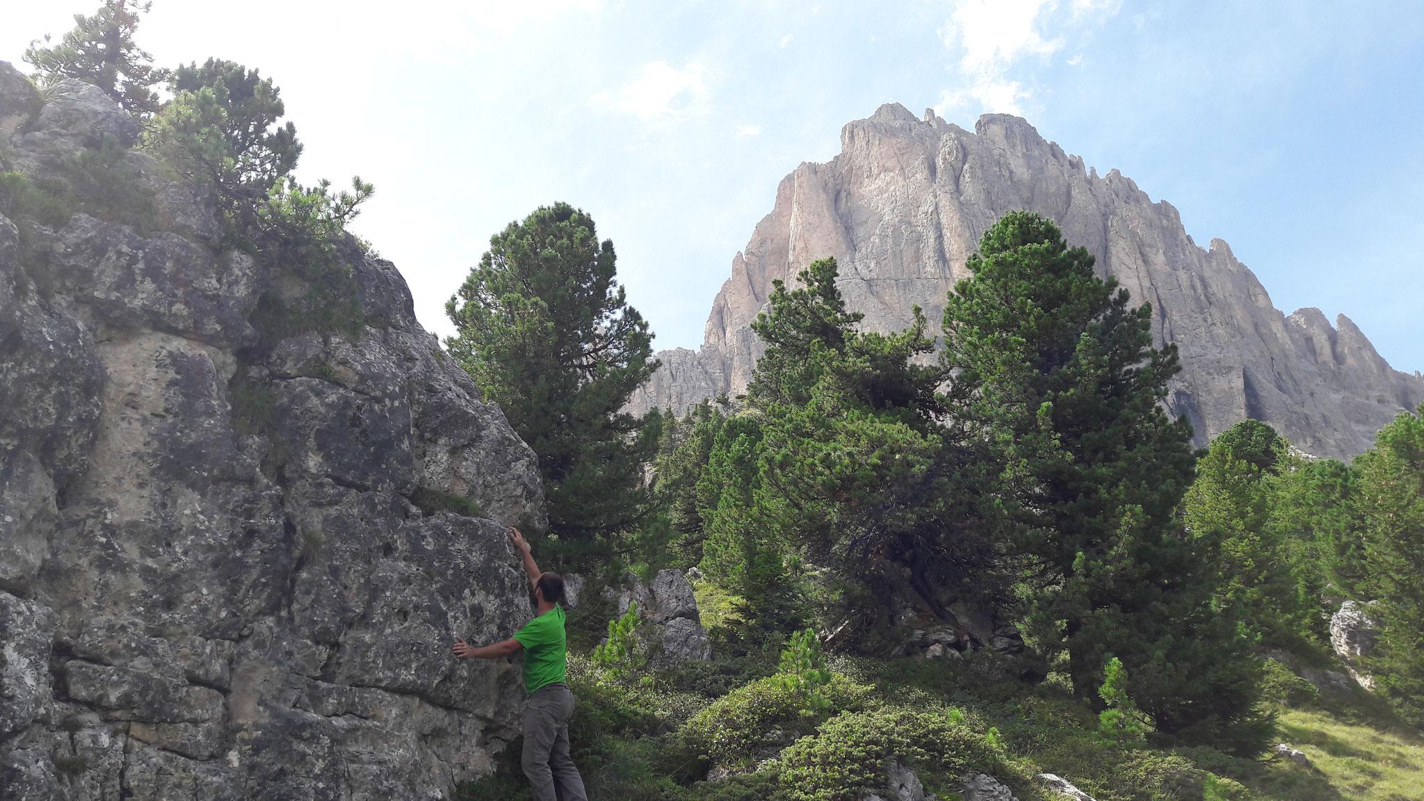 Boulderplausch in der steinernen Stadt beim Passo del Sella