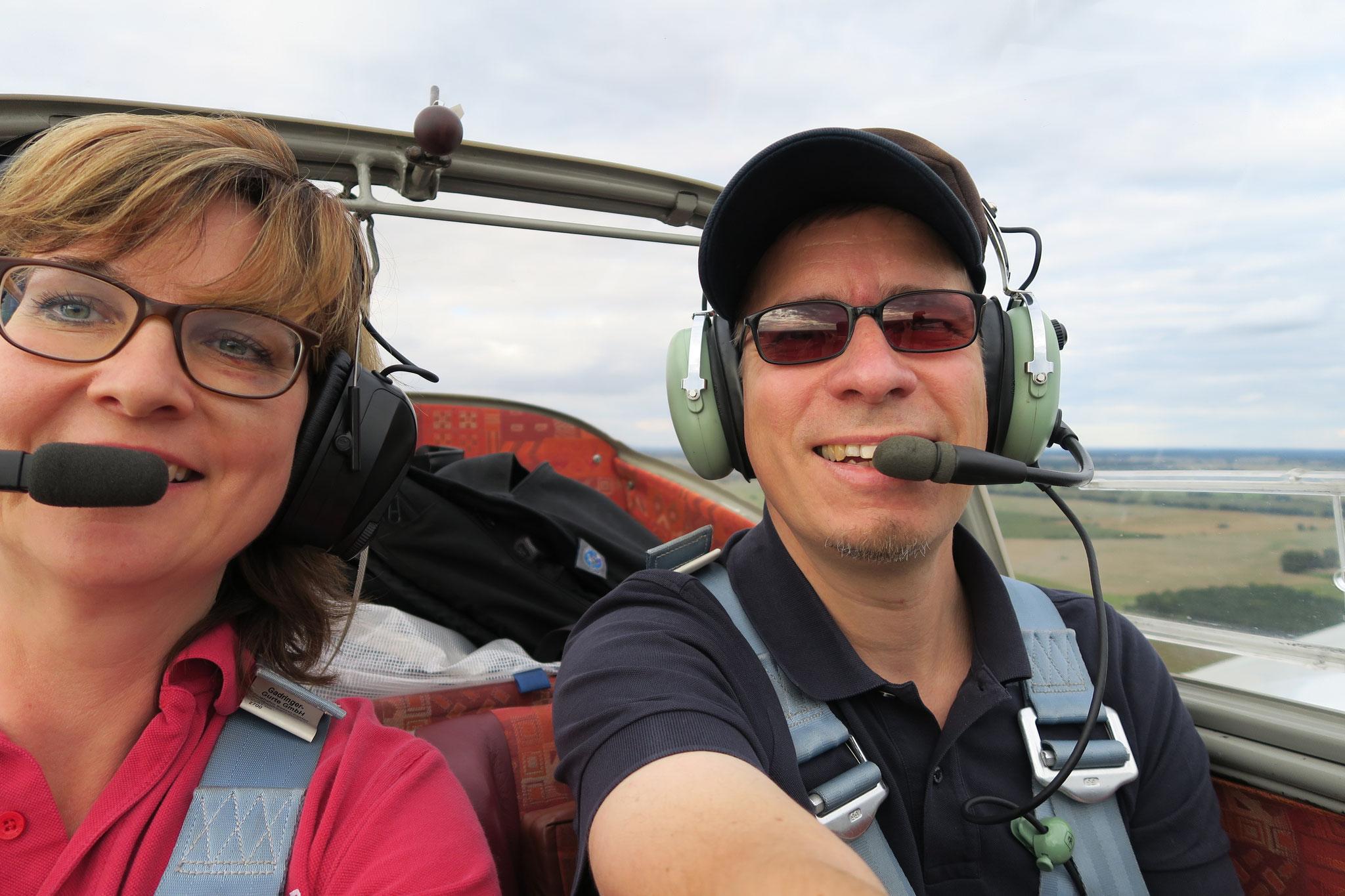 Spaß in der Luft haben Ole und Sabine