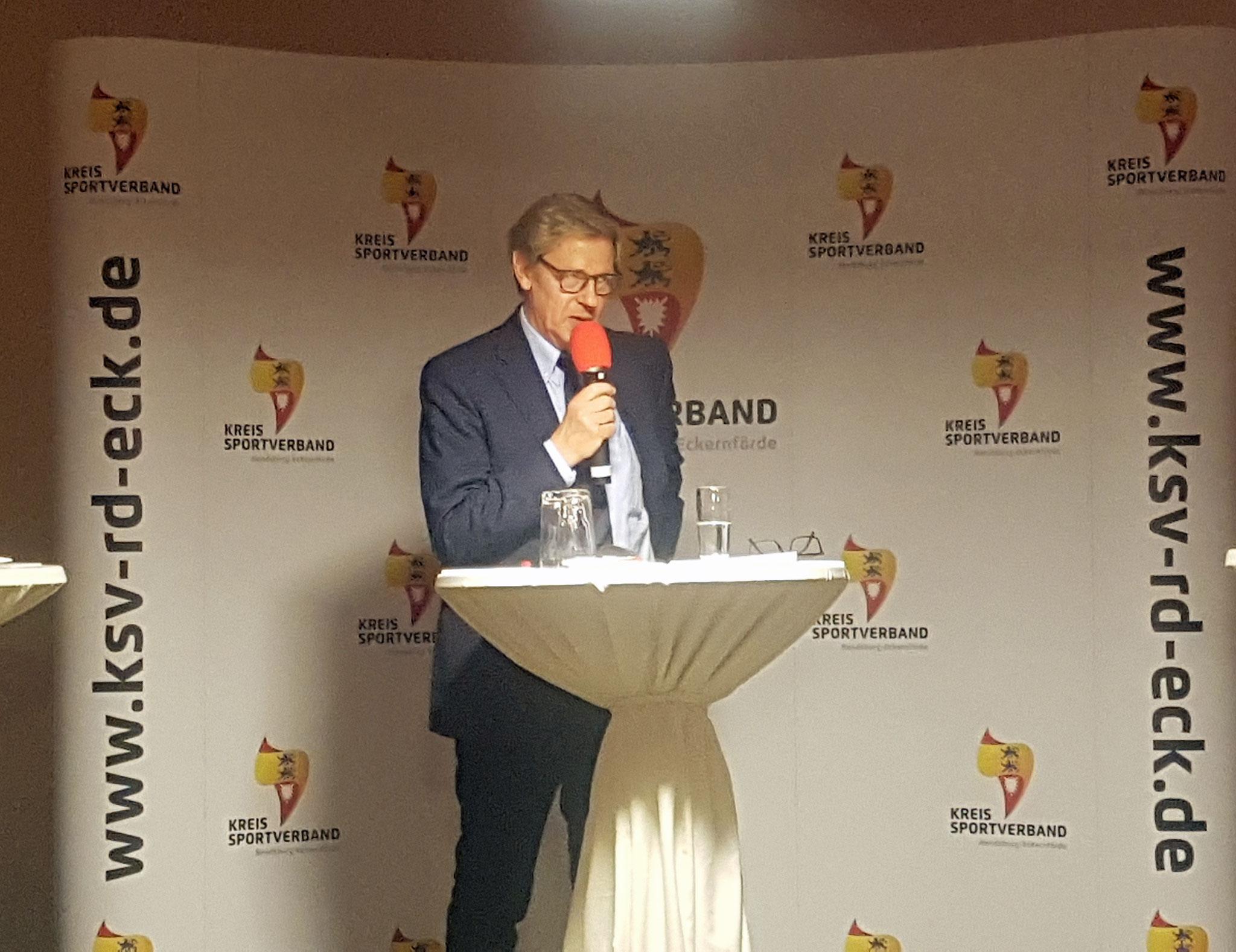 Hans-Jakob Tiessen, Präsident Landessportverband Schleswig-Holstein