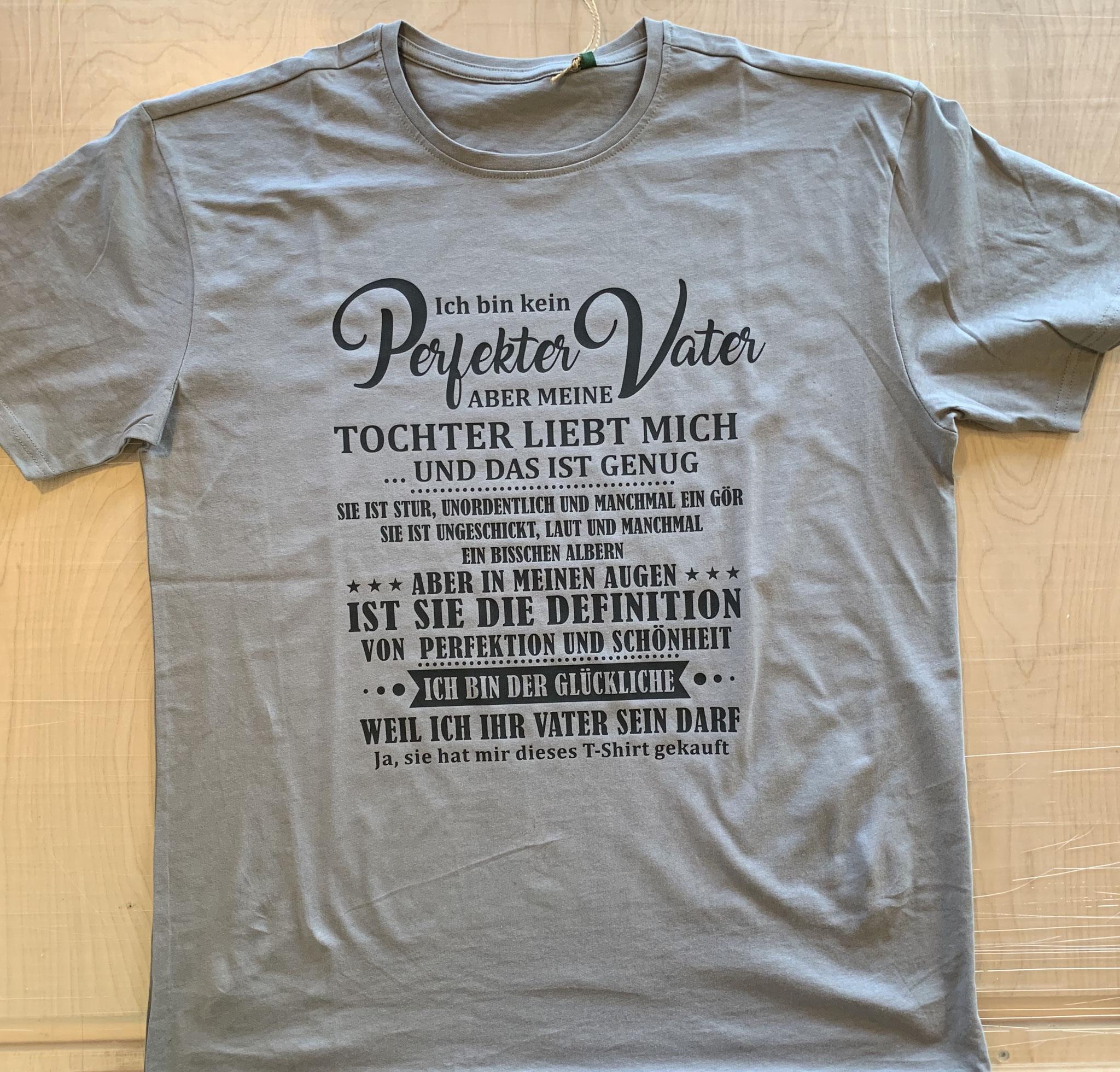 einfarbiger Druck auf Bio-T-Shirt