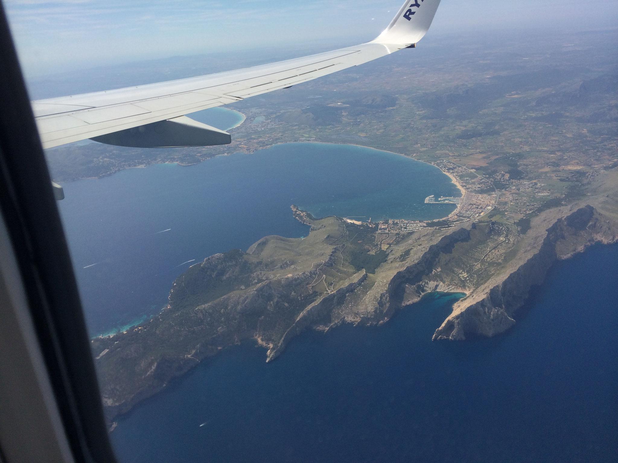Mallorca  aus dem Flieger