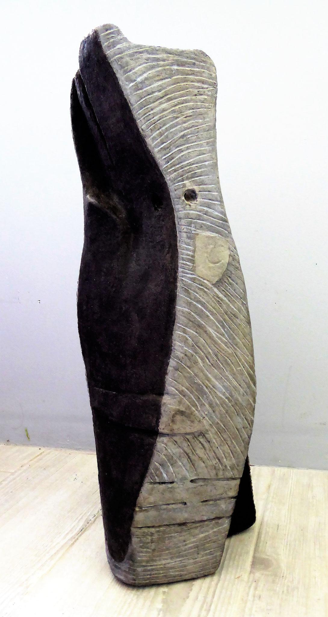 Epuré - Fibre de coton et de lin    50 x 16 x 16 cm - 2017. Oeuvre de Tatiana Rozenblat