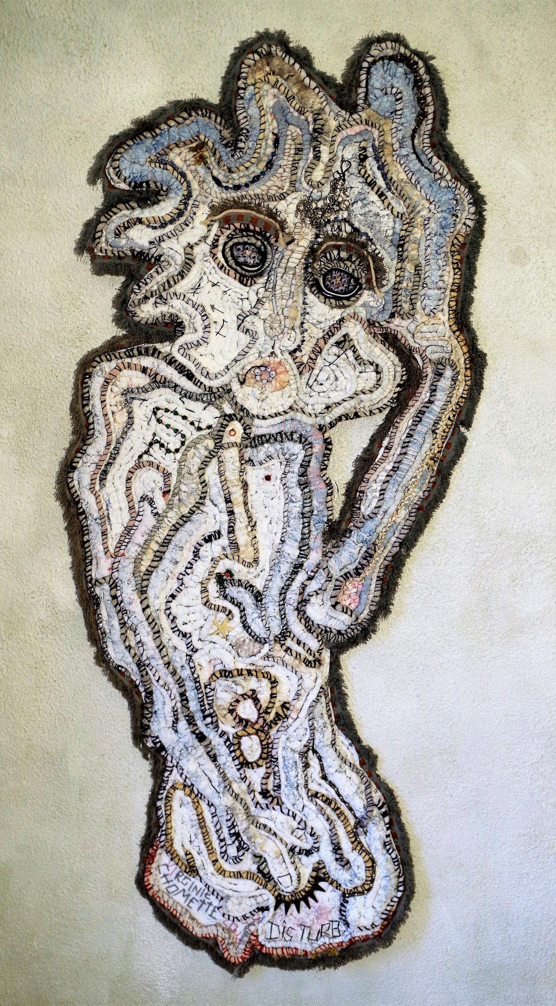 No disturb - 150 x  55 cm - Oeuvre de Virginie Chomette
