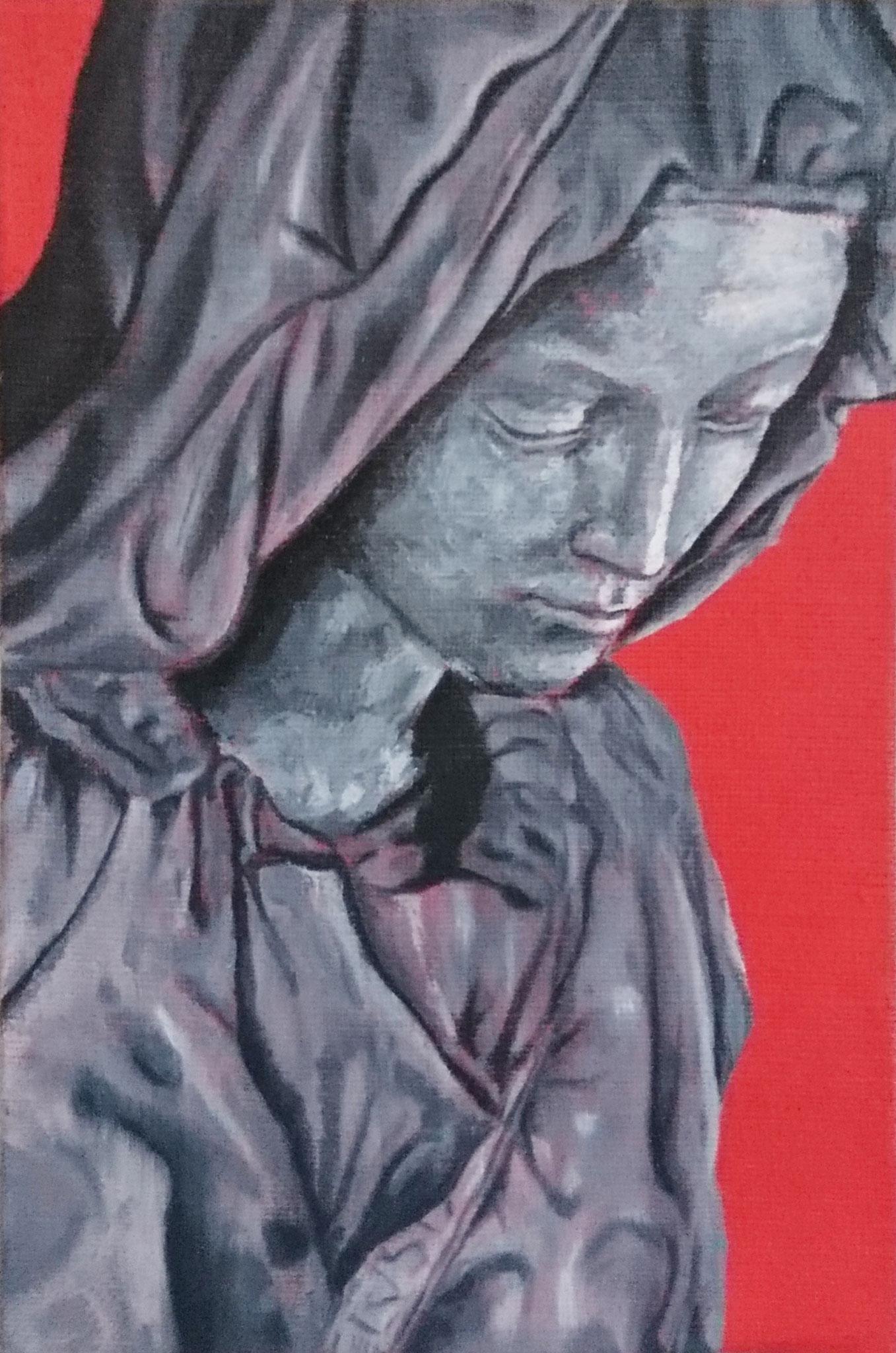 D'après Michel Ange - Huile sur toile - 22 x 16 cm - Oeuvre de Paul Teyssier d'Orfeuil