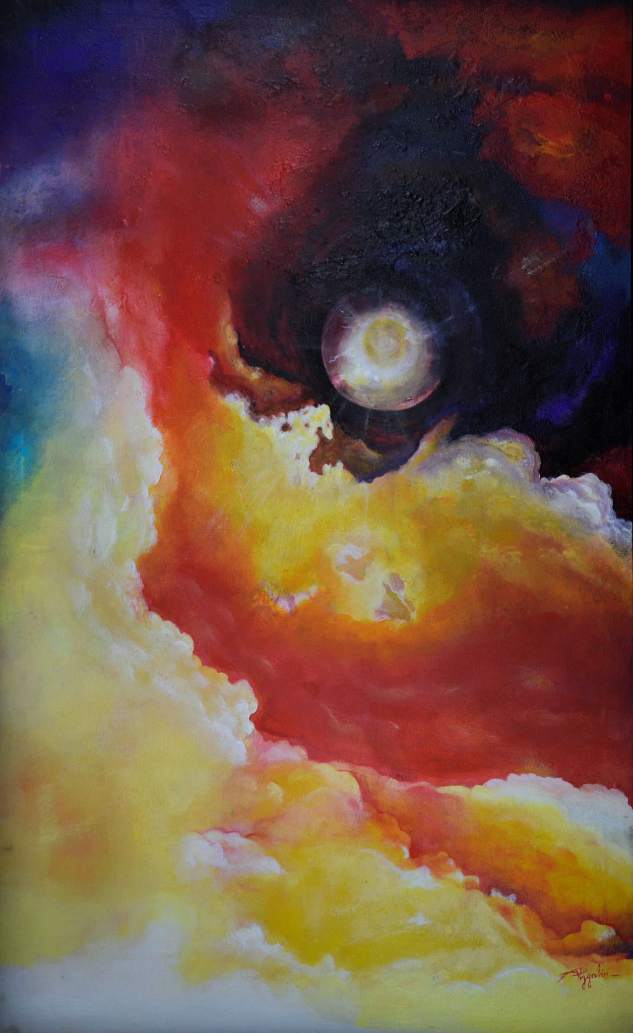 joie de vivre - Acrylique sur toile - 100x162 cm