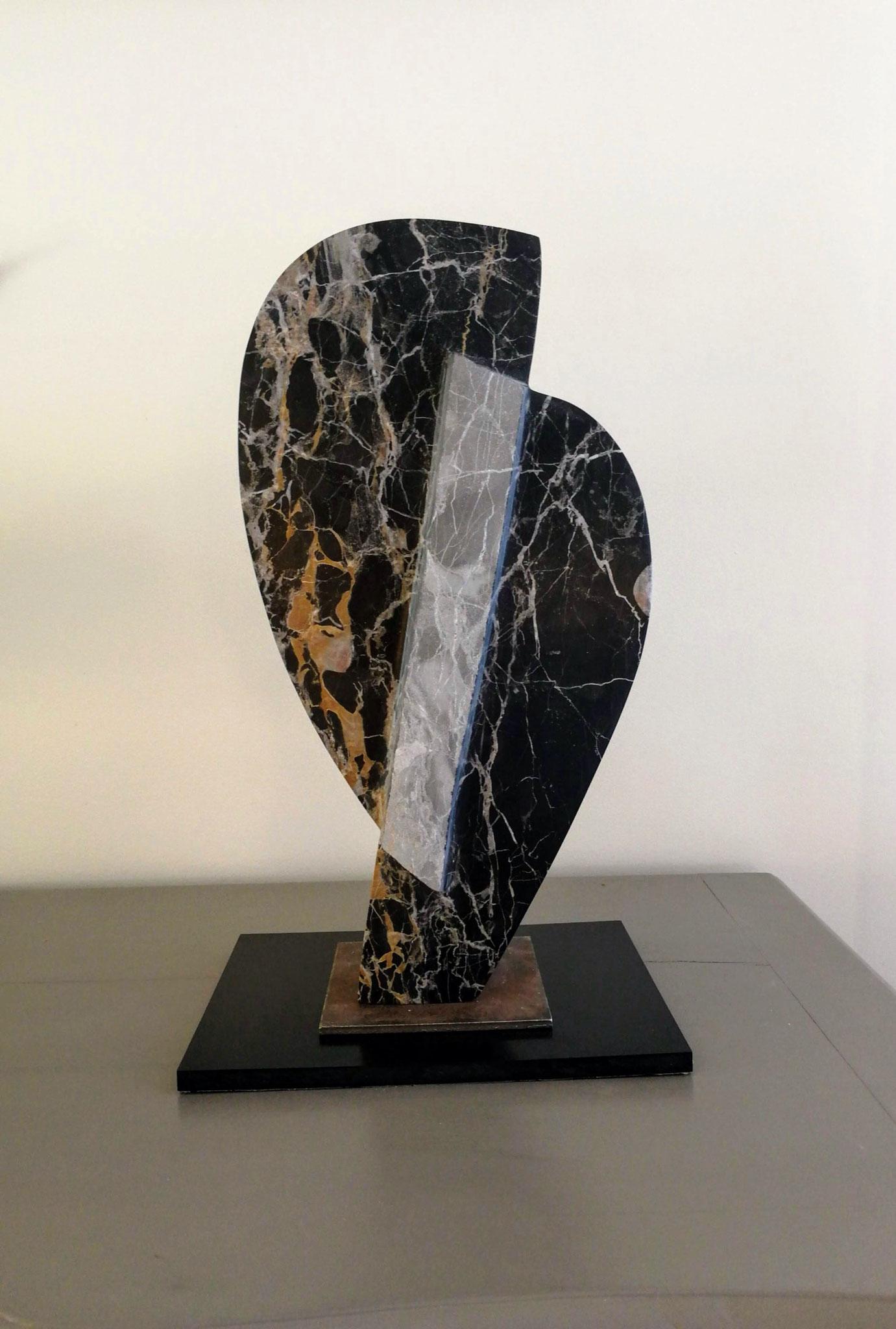 """L'oiseau de feu"" - marbre d'Italie Portoto - 26x22x50cm"