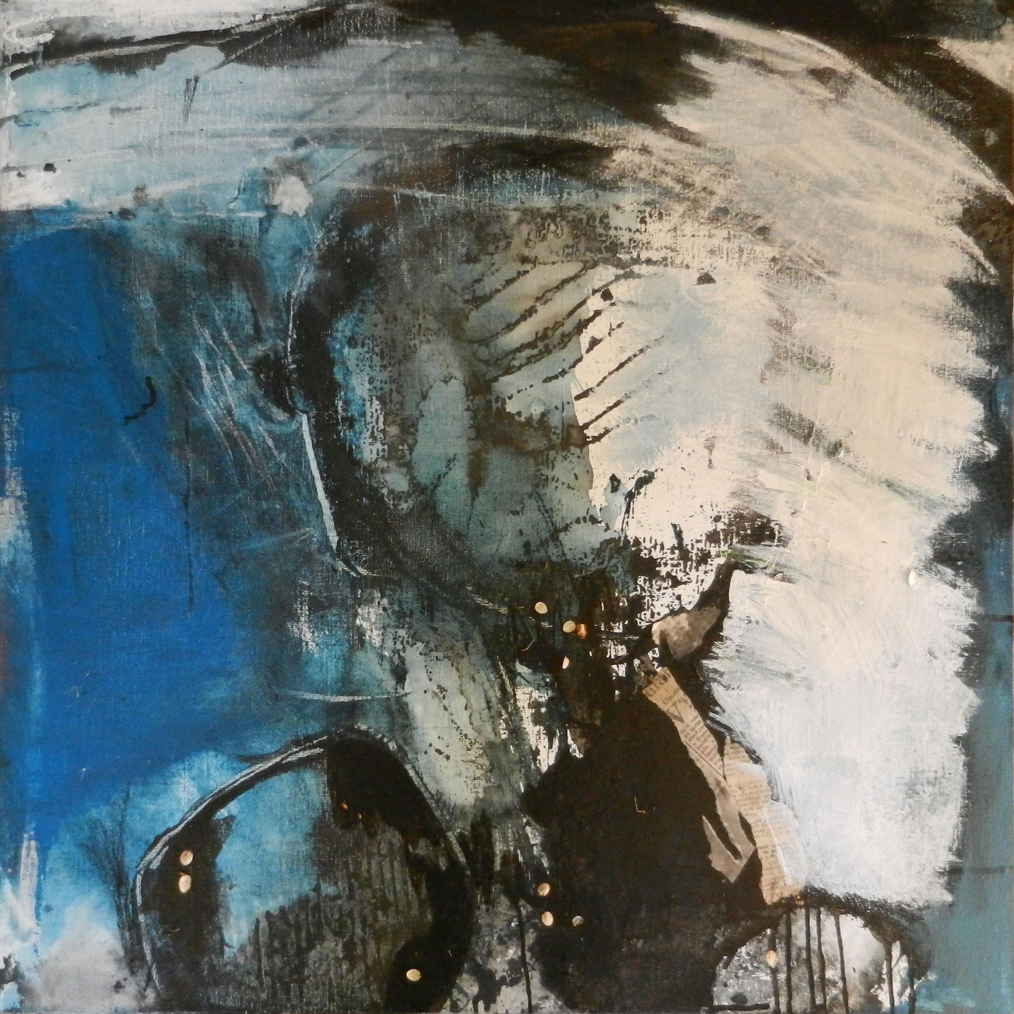"""""""Sans titre"""" 60 x 60 cm, acrylique et mixte. Peinture Marie-Jo Dilly"""