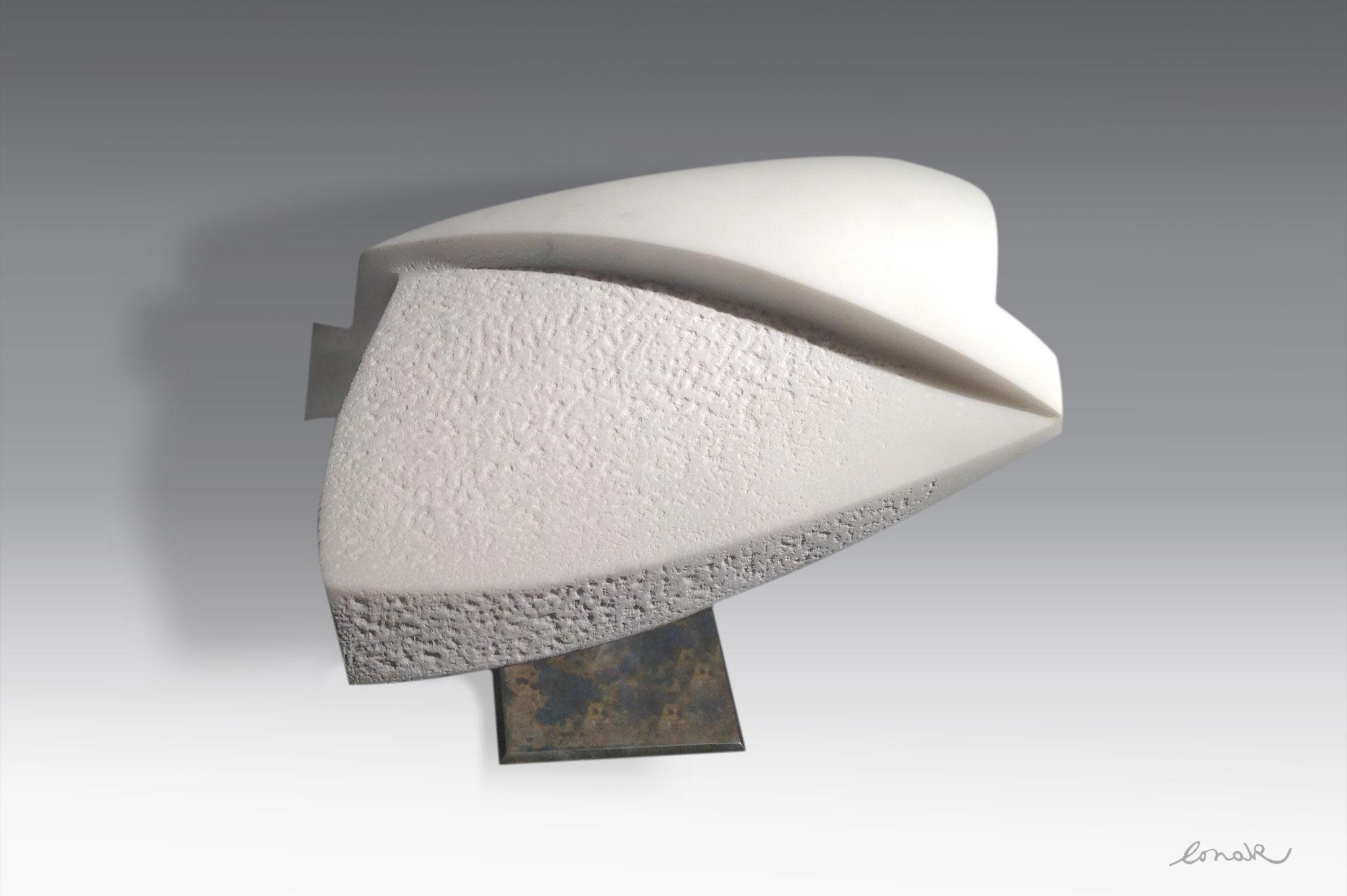 """""""Arc en ciel"""" - marbre de carrare - 50x32x14cm"""