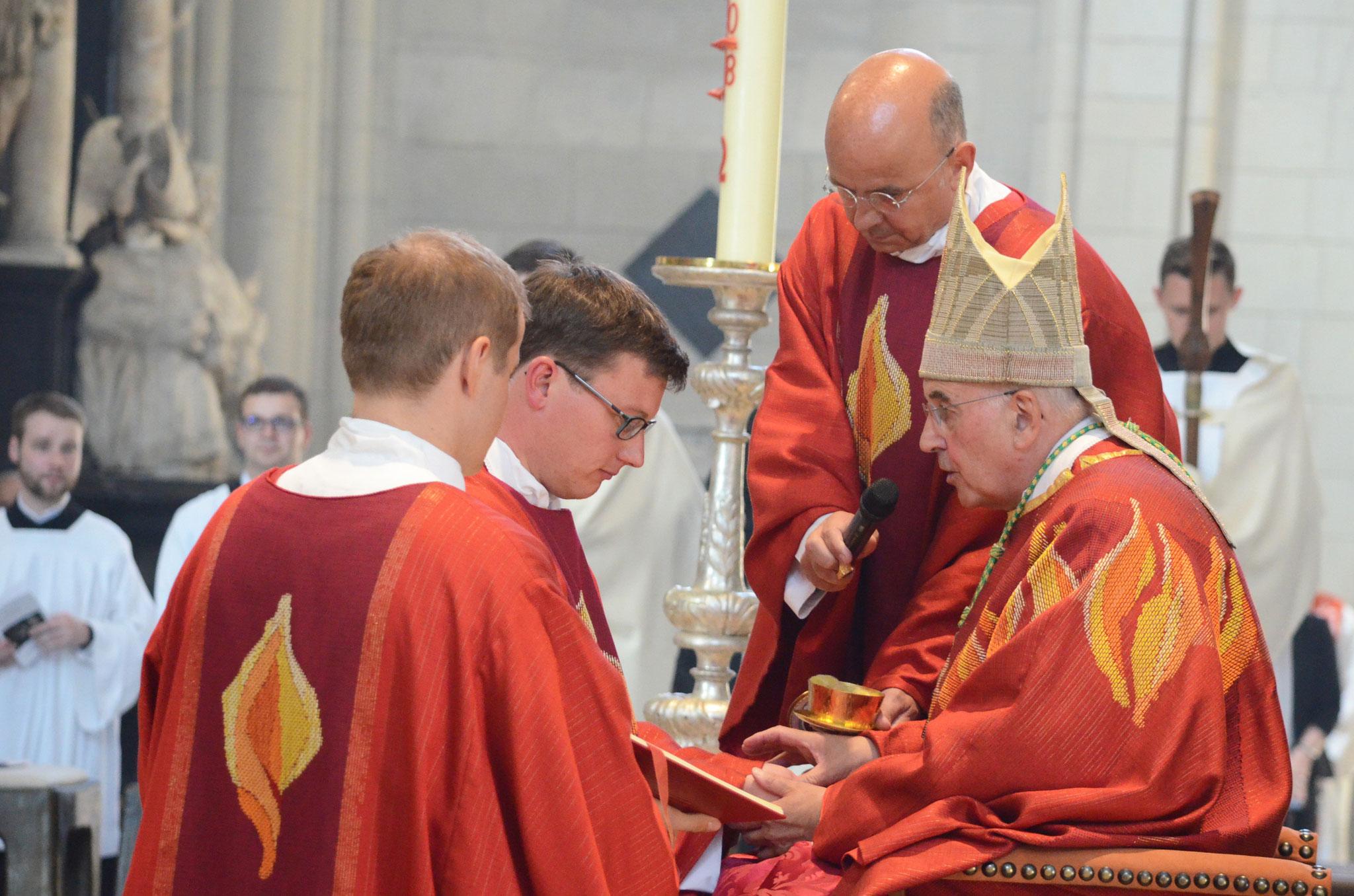 Die Neupriester erhalten den bischöflichen Segen - Foto: mit freundlicher Genehmigung des Bistums Münster