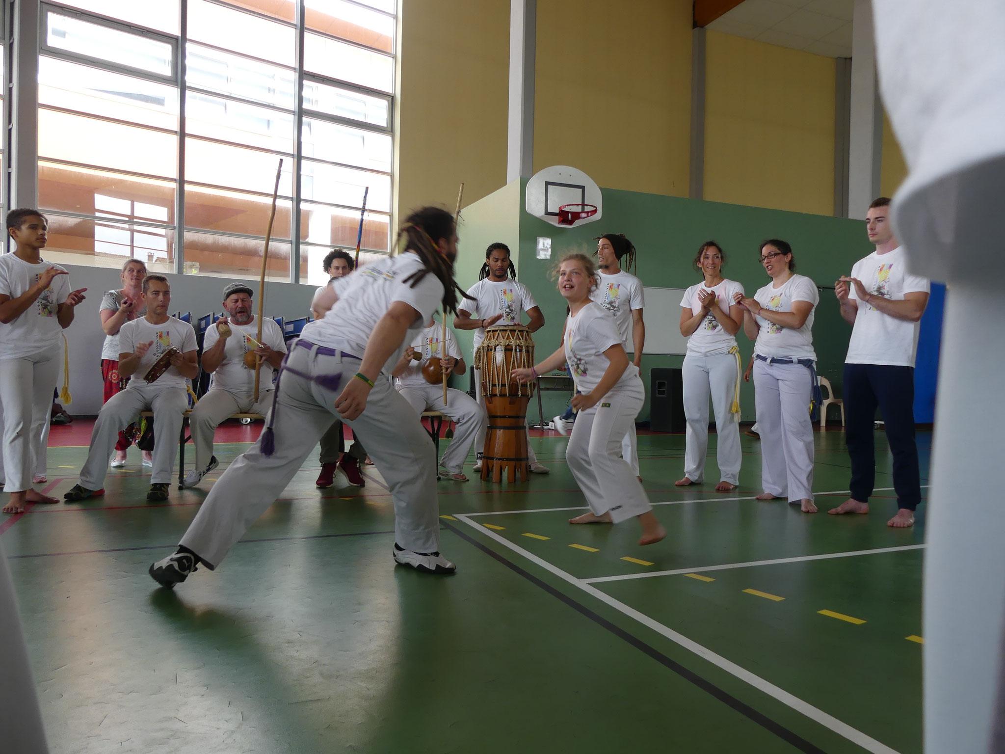 BATIZADO - 2018 - Roda pendant un baptème de capoeira