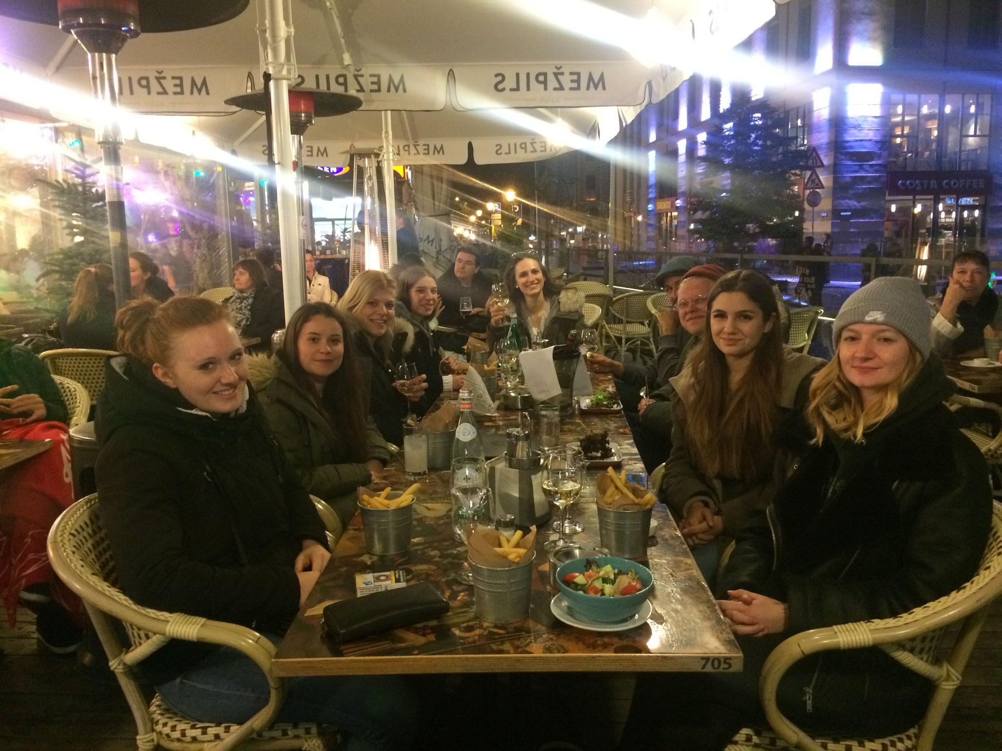 Abendessen in Riga