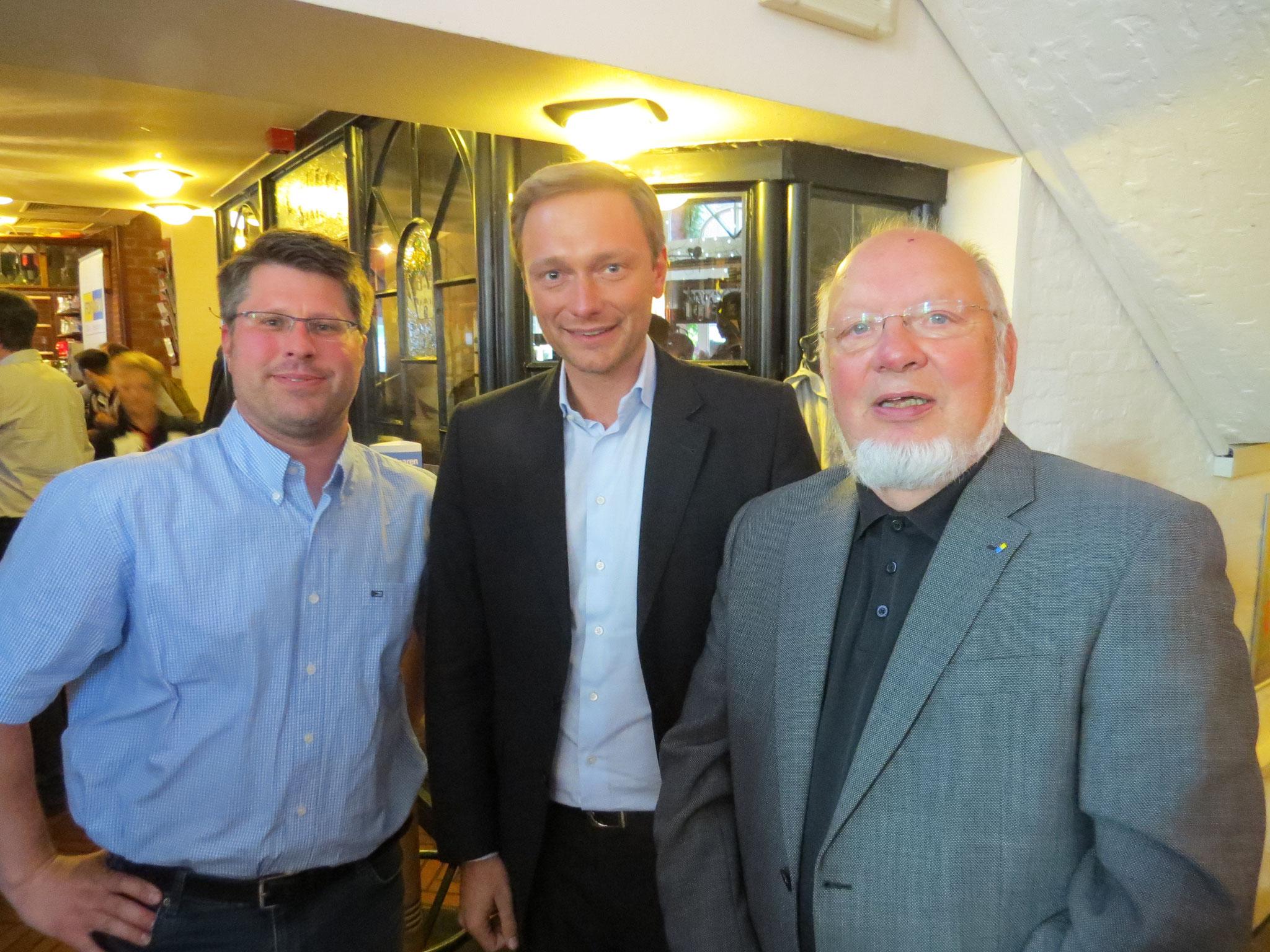 Wahlkampfveranstaltung 2014 in der Hausbrauerei Boente mit Christian Lindner