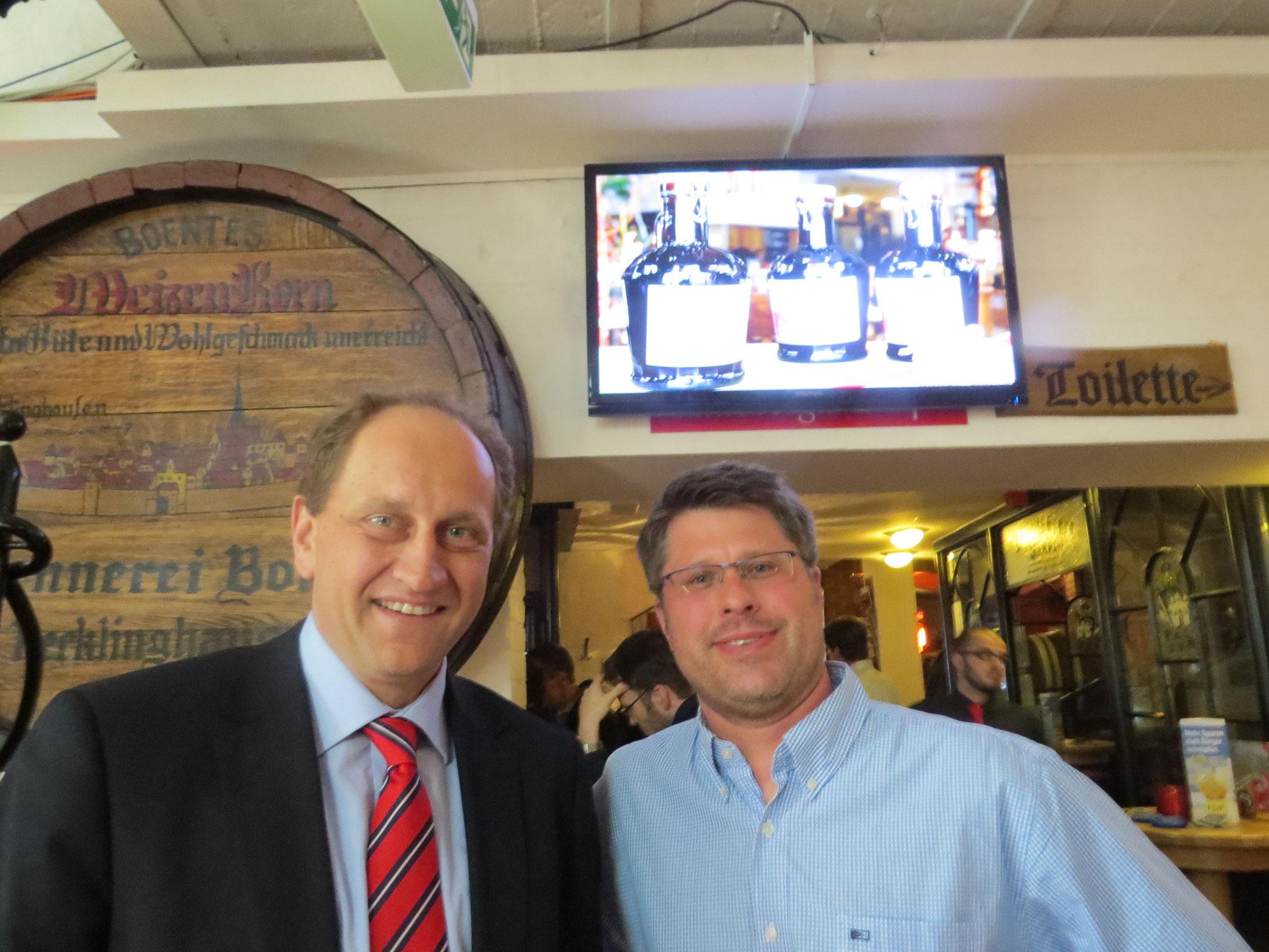 Wahlkampfveranstaltung 2014 in der Hausbrauerei Boente mit Alexander Graf Lambsdorff