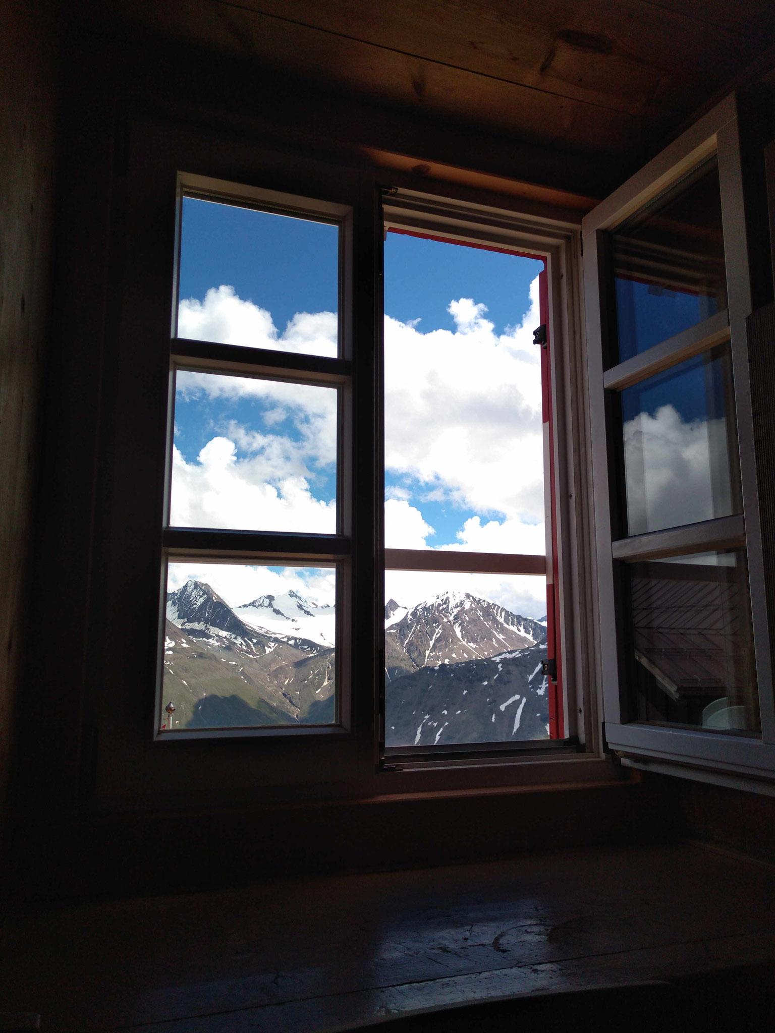 Blick aus dem Zimmer der Breslauer Hütte