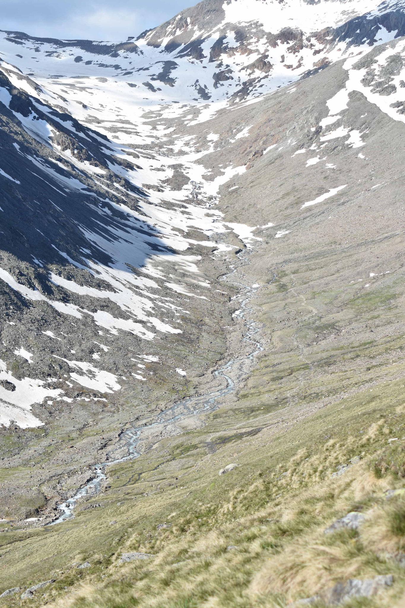 Blick zur Similaun Hütte