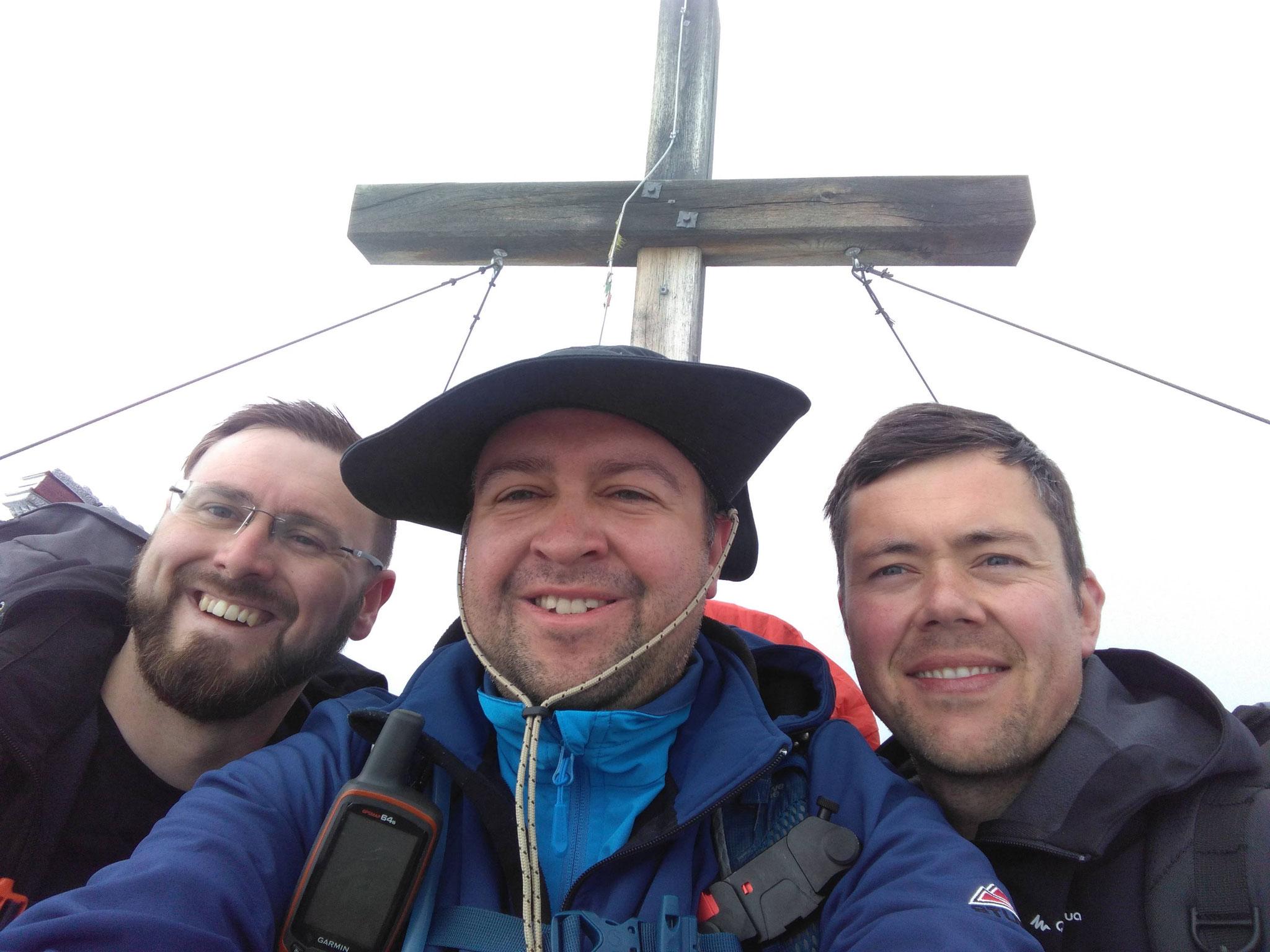 Am Gipefel des Wilden Mannle (3.019 m)