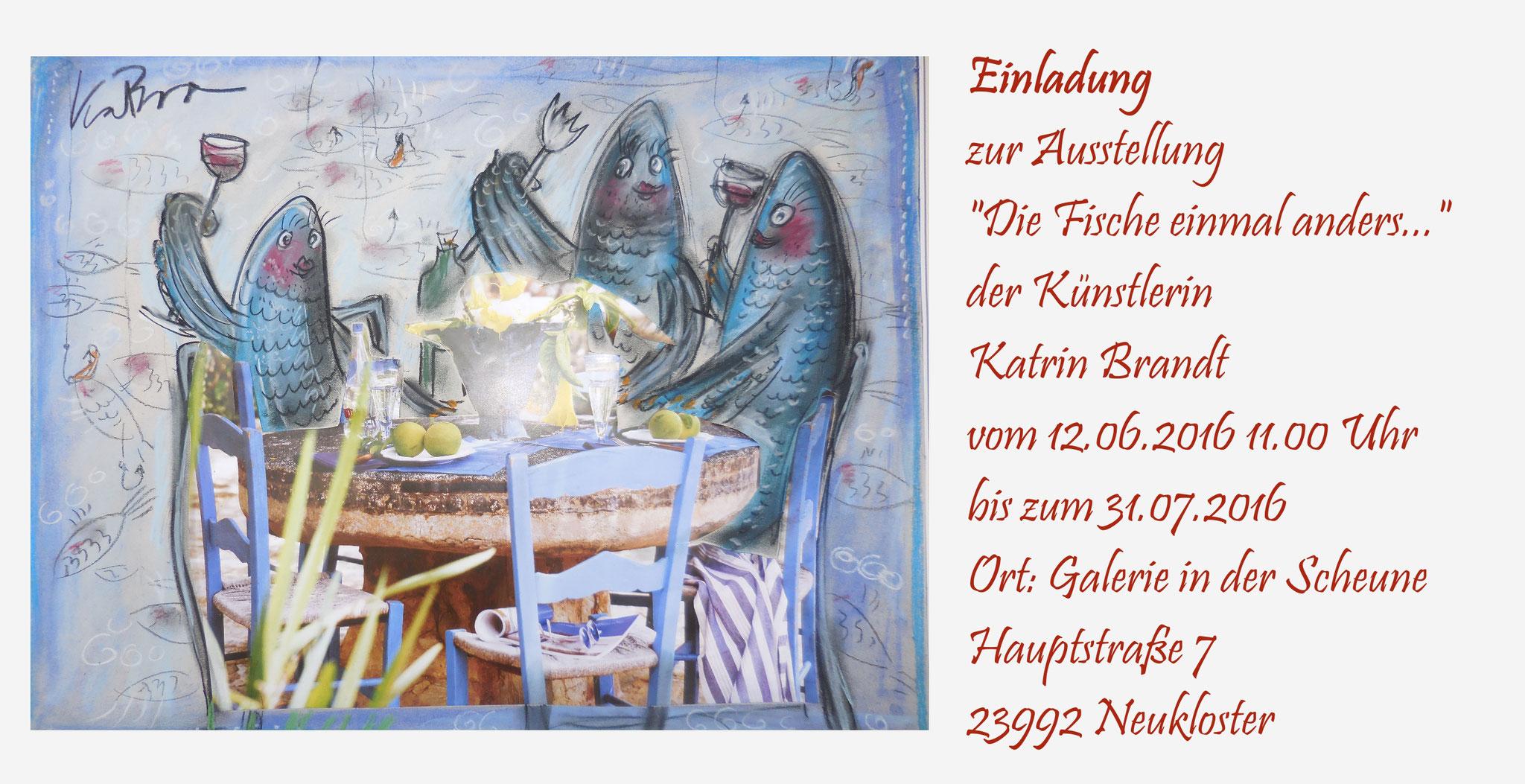 Ausstellung mit Bildern von Frau Brandt