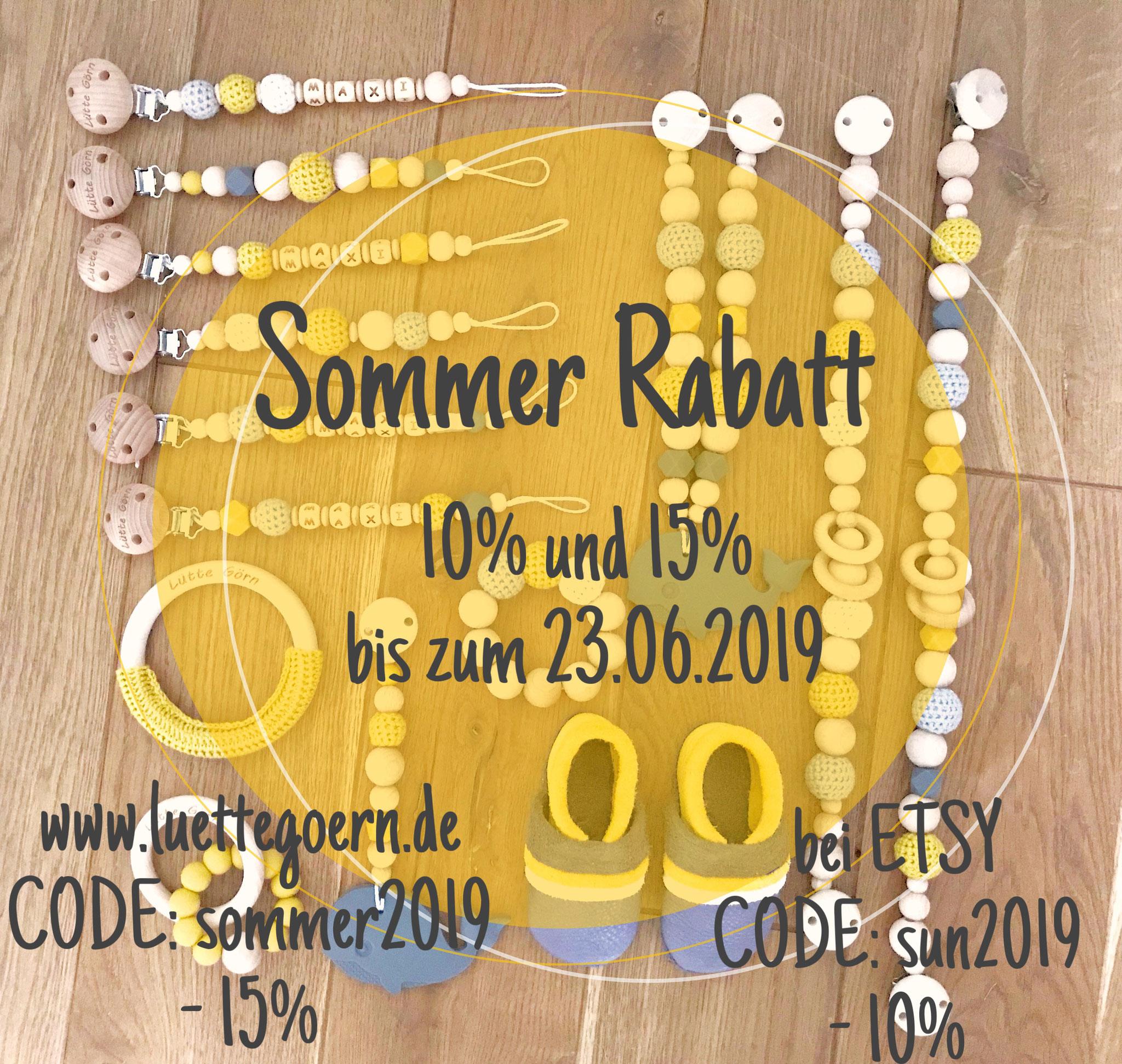 SommerRabatt! - 15% bis zum 23.06.2019