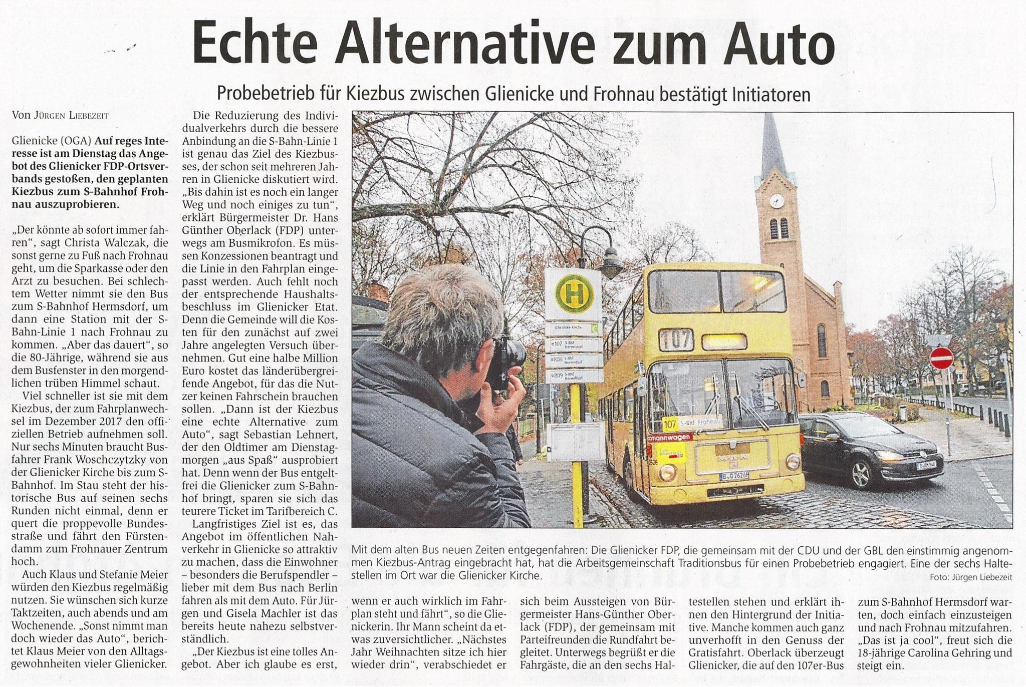 Oranienburger Generalanzeiger, 09.11.2016