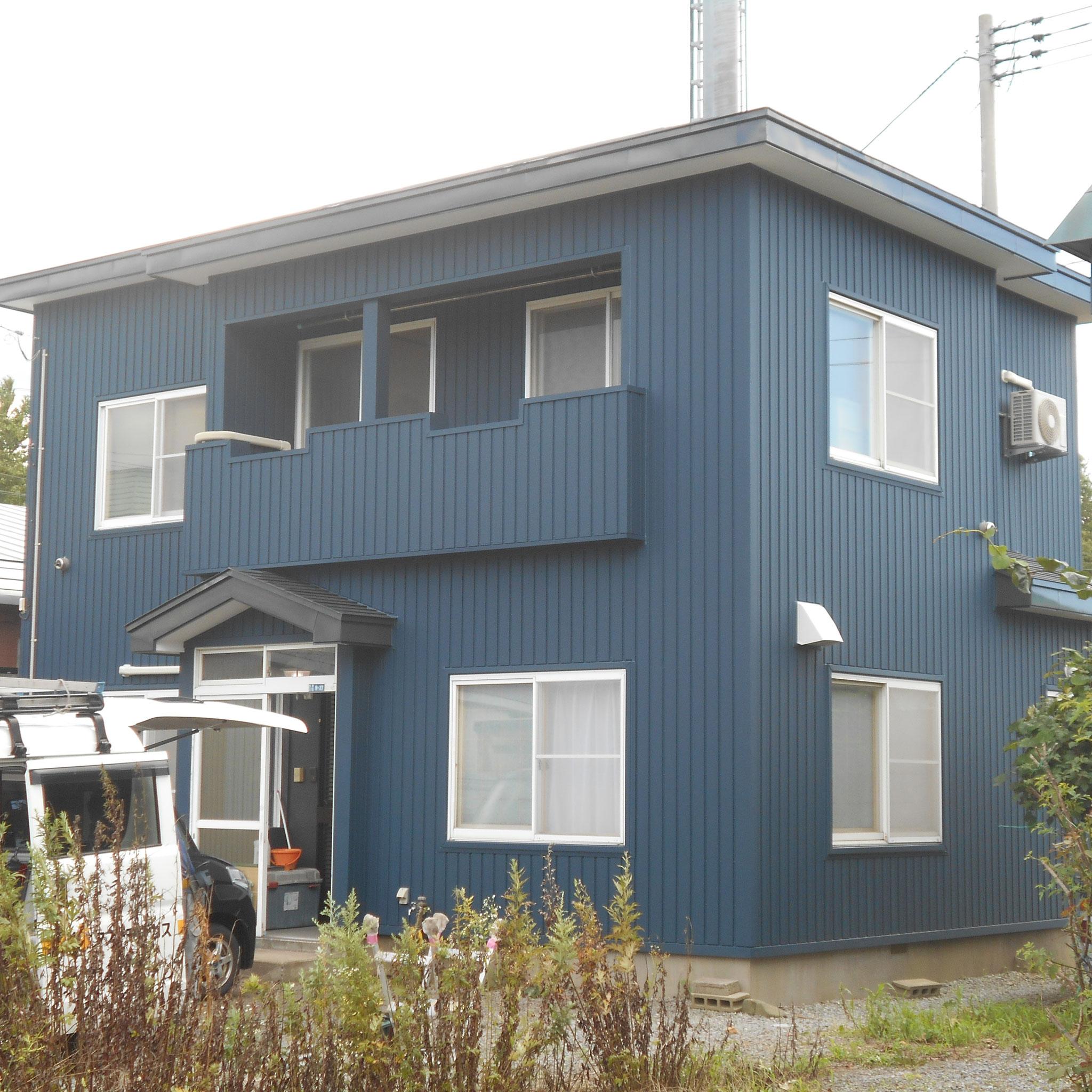 外壁工事 設計監理:㈱稲見建築設計事務所 施工:㈲エス・ティ・ケー
