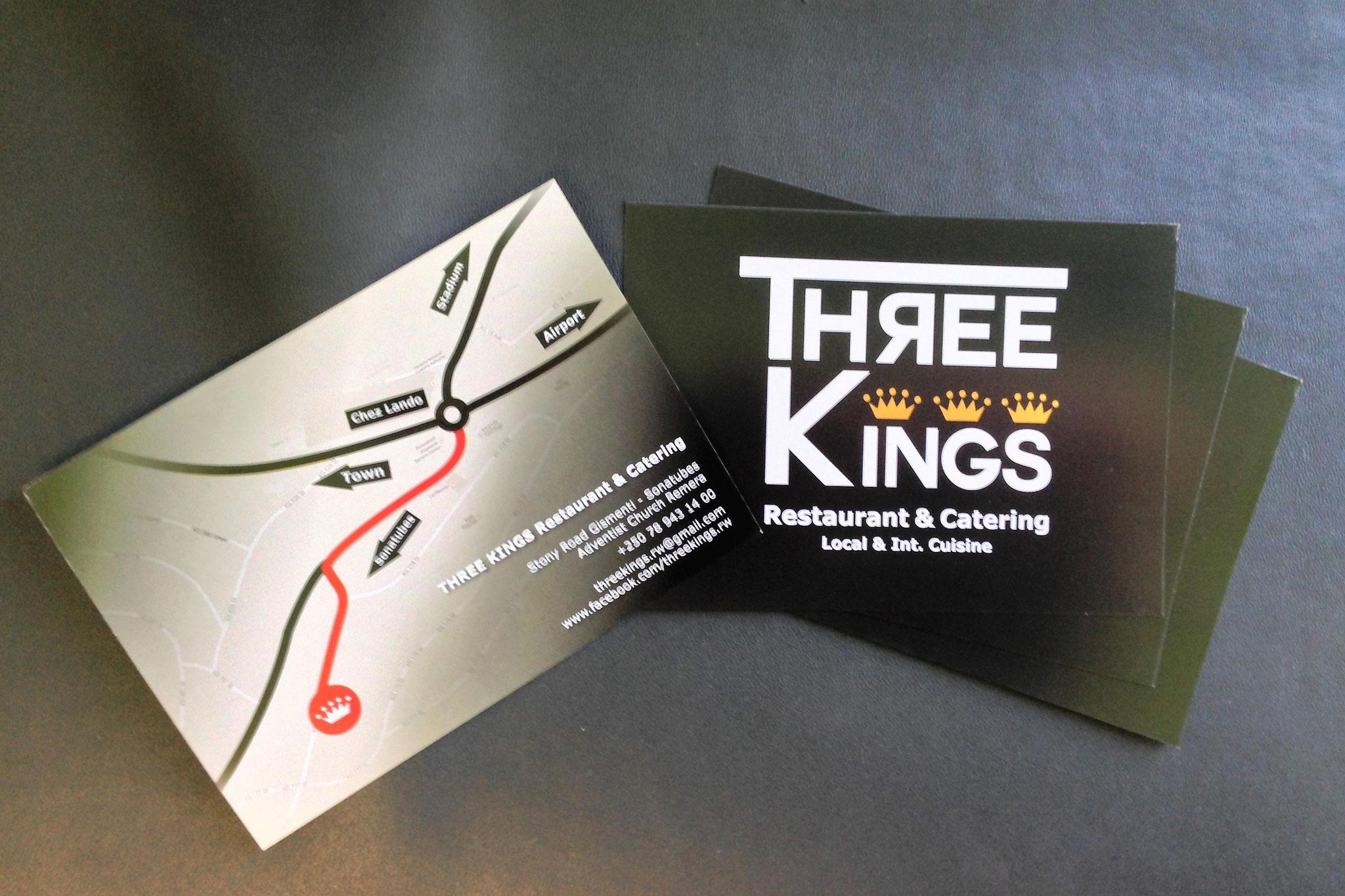 CI-Design und Produktion von Drucksachen für Three Kings