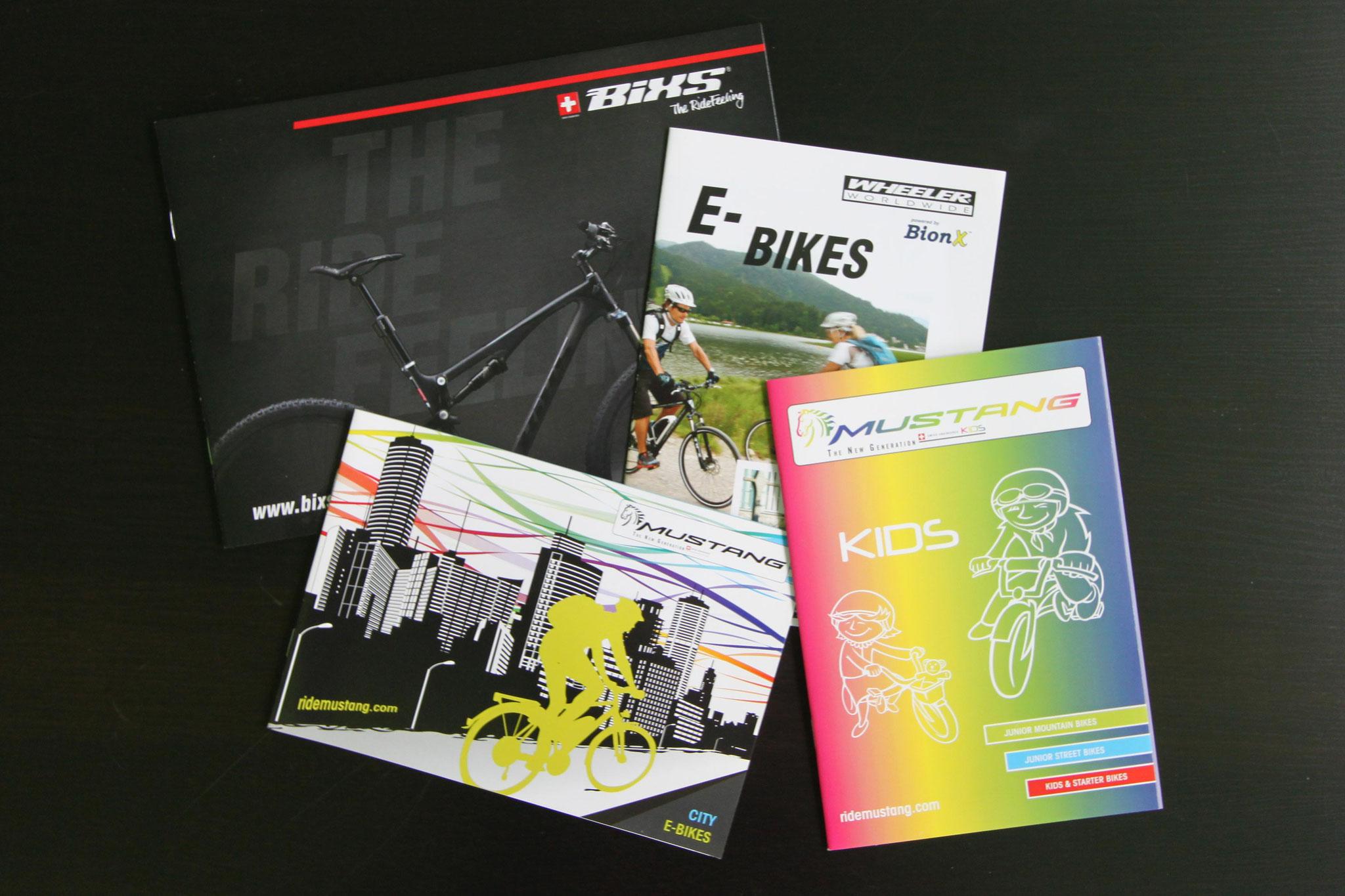 Gestaltung und Produktion diverser Bike-Kataloge