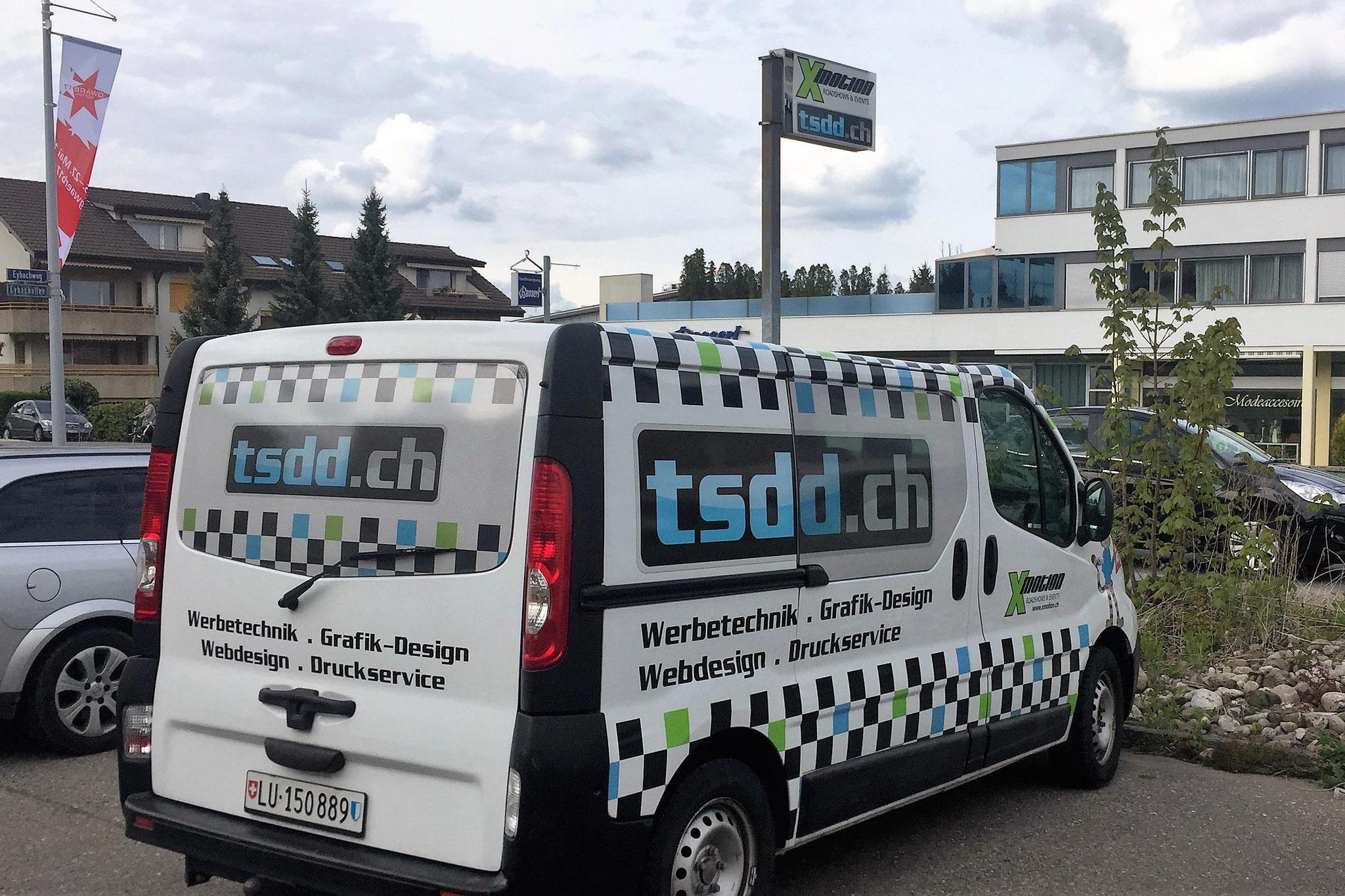 Firmenwagen der tsdd GmbH