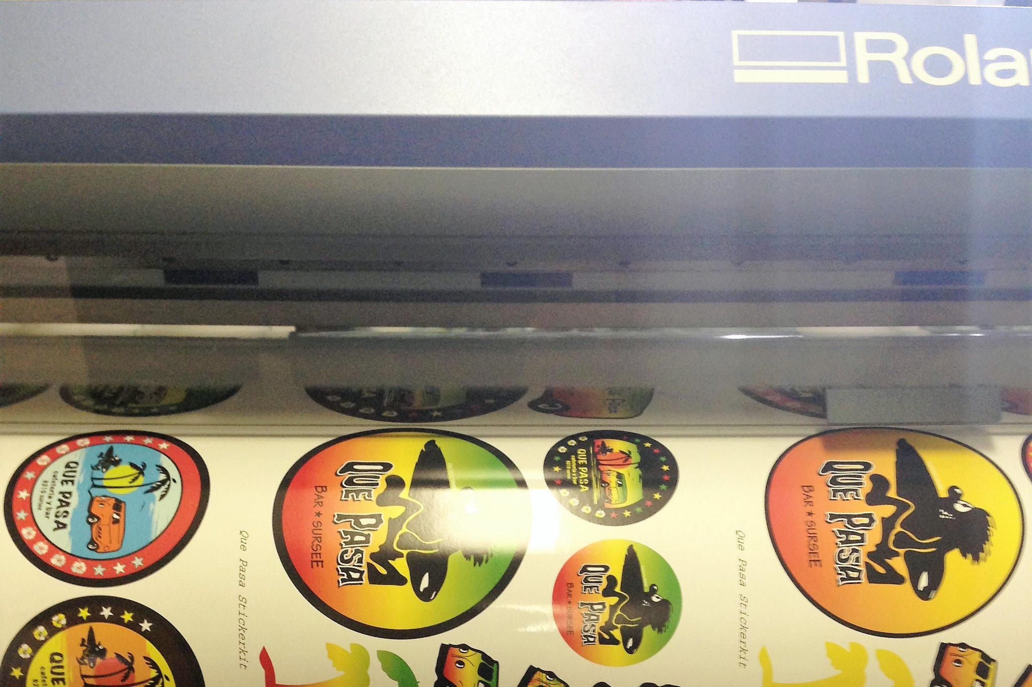 Aufkleber in unserer Druckmaschine