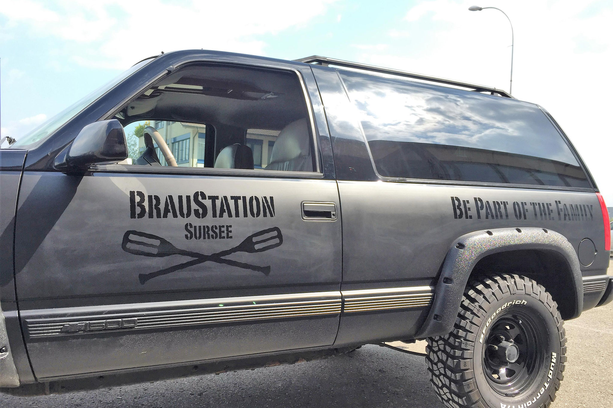 Fahrzeugbeschriftung glanz auf matt, Braustation