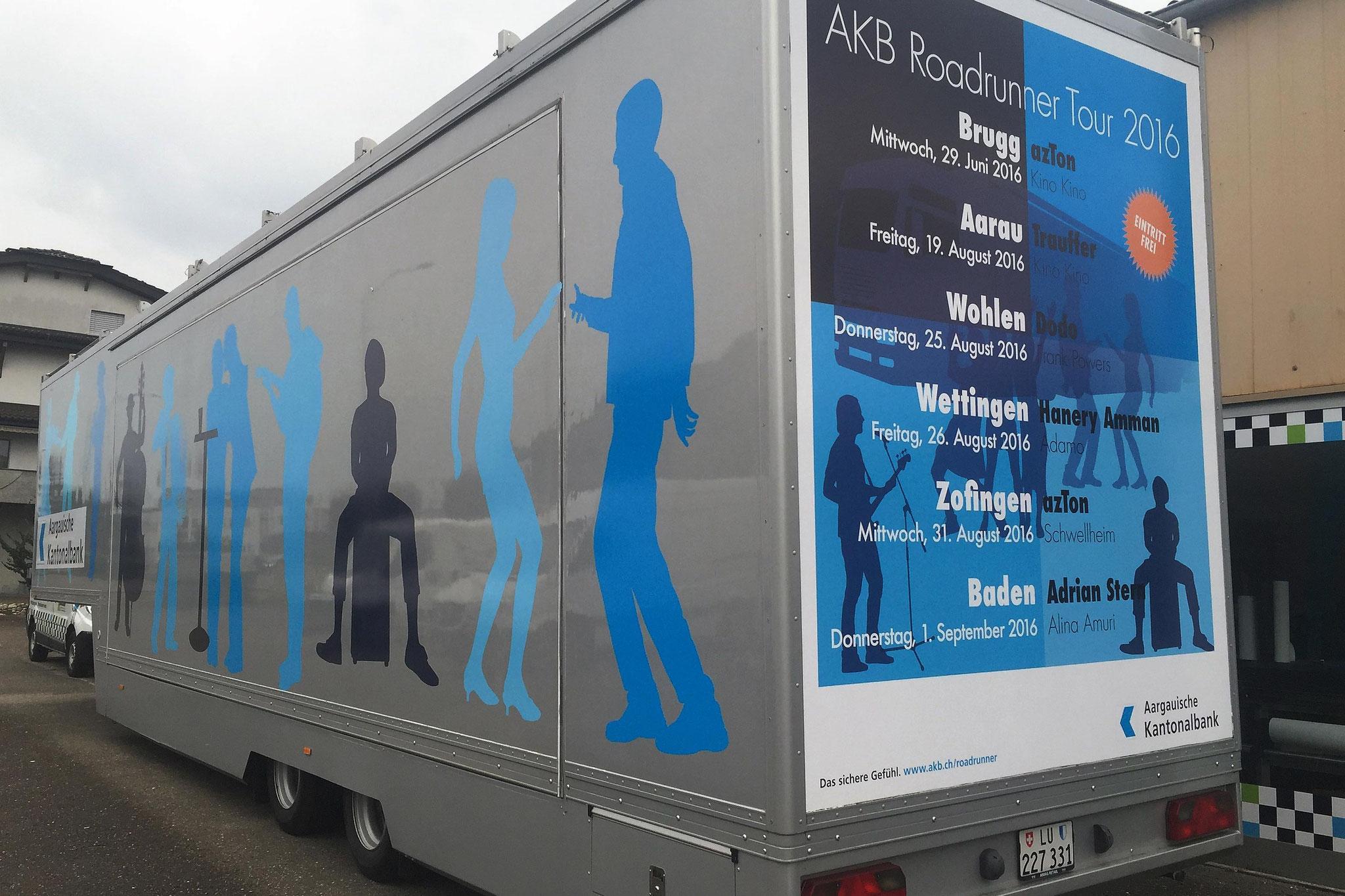 Sattelschlepper-Beschriftung für die AKB, 2016