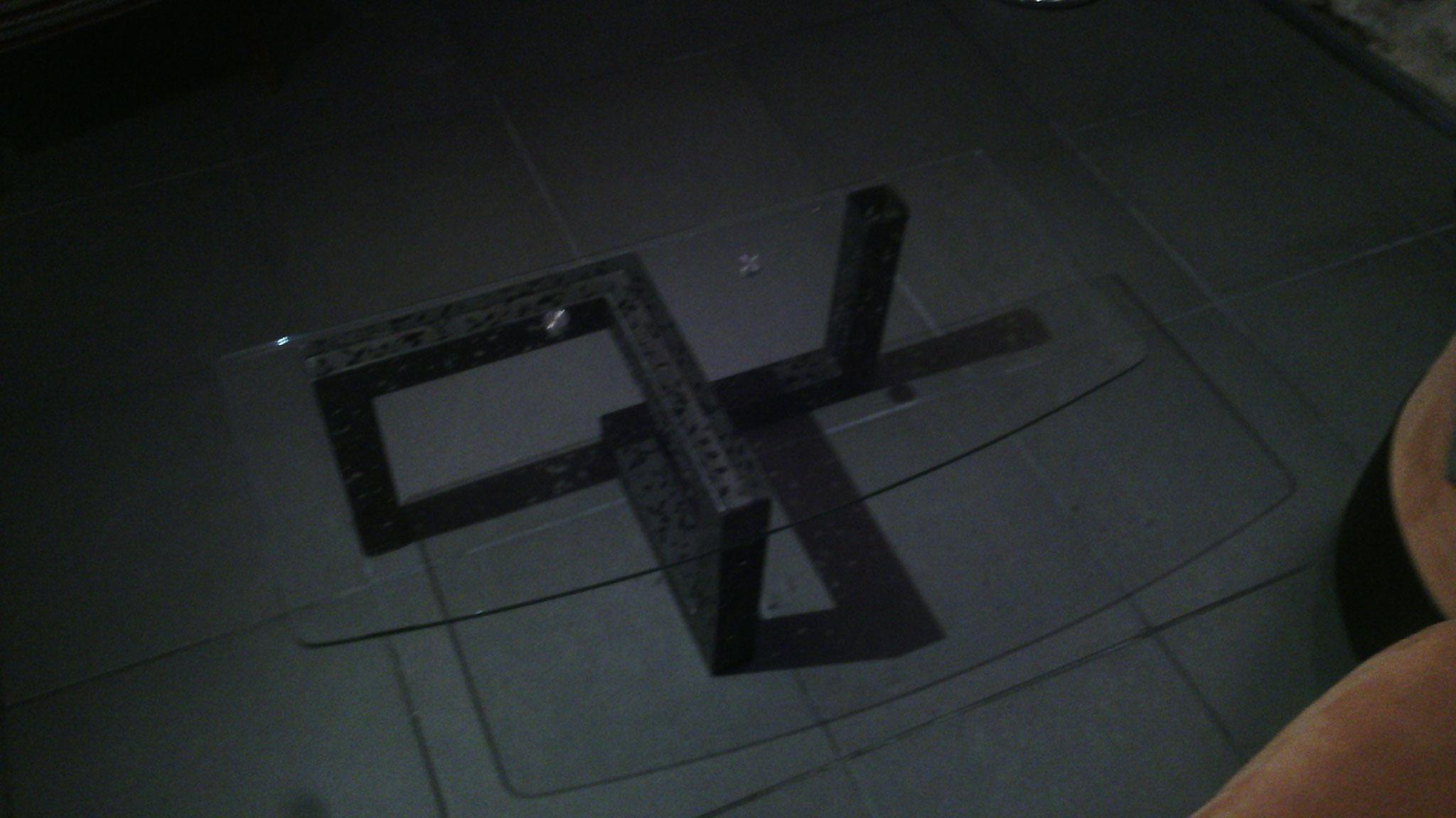 Table basse Métal + verre personnalisée