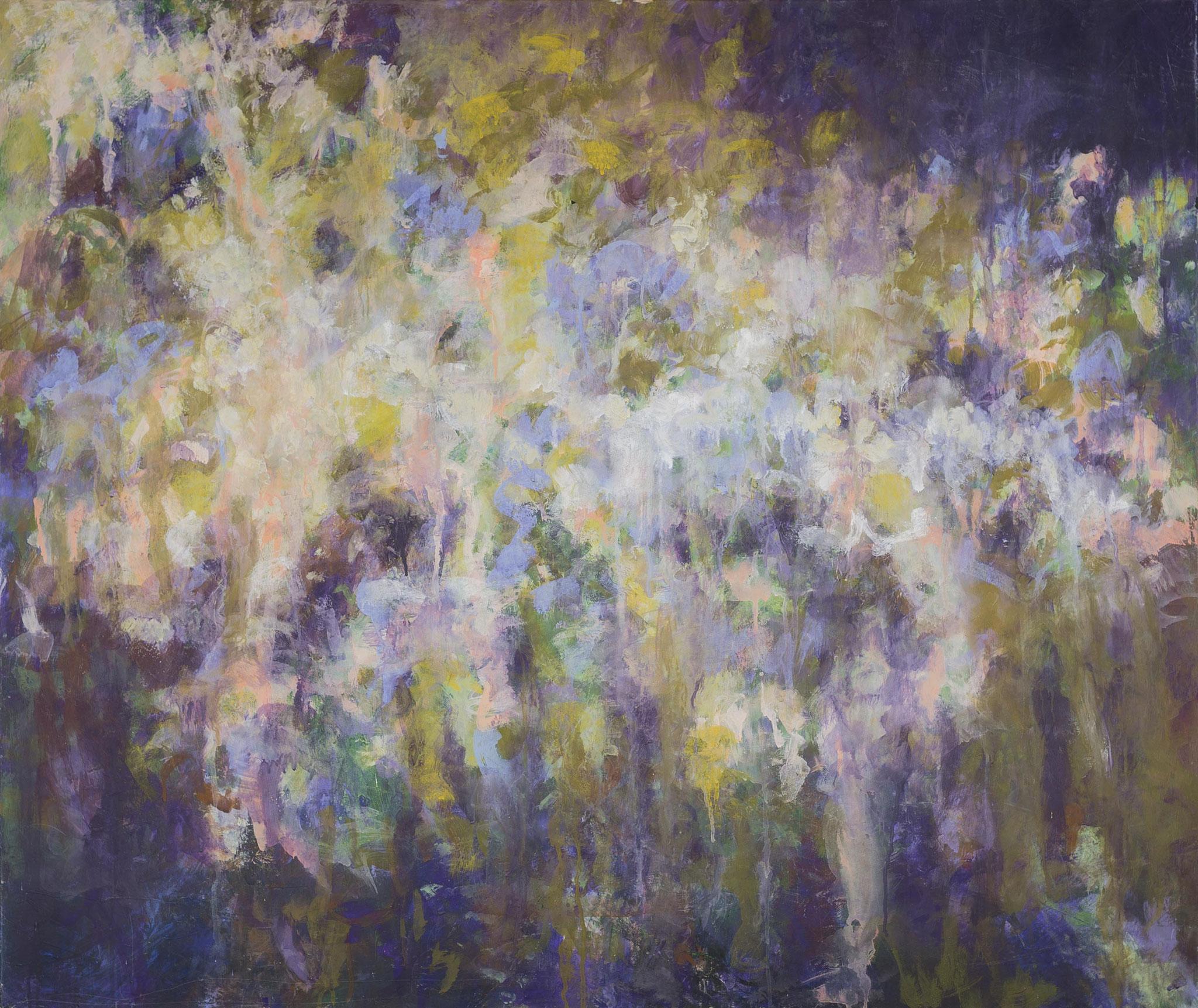 o.T. (Sommerregen),2013, Leimfarbe auf Leinen 120x100cm