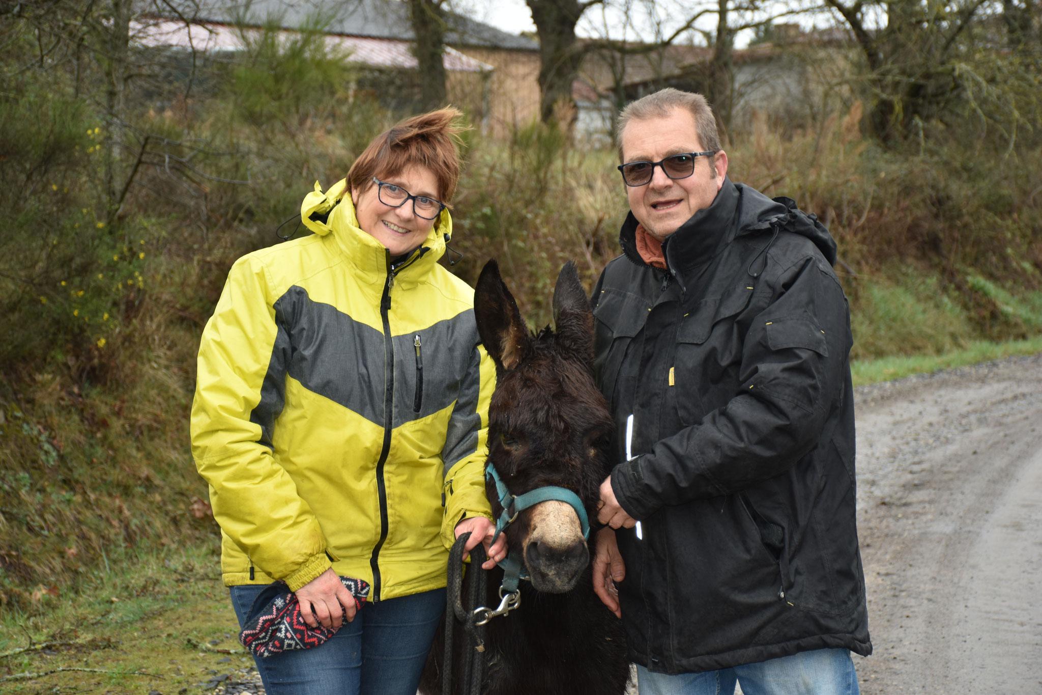 Tit'âne de liberté adopté par Nathalie et François en mars