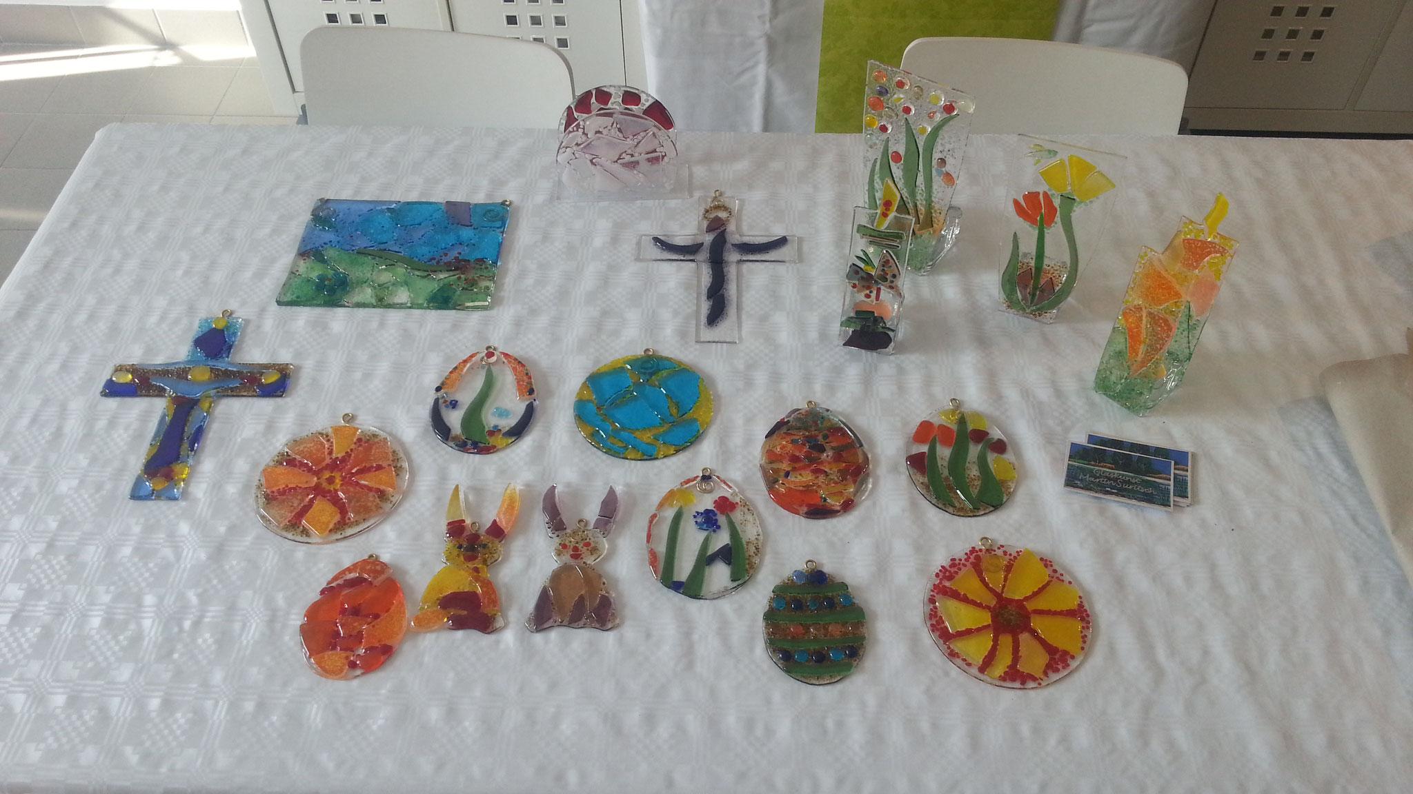 Diese Glasfusing-Werke sind alle im Workshop entstanden!