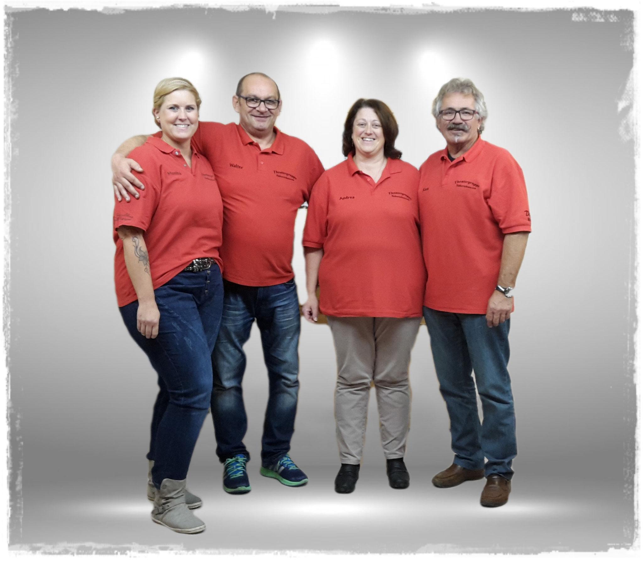 Von links nach rechts: Monika Gerl, Walter Eigsperger, Andrea Schmalzbauer, Koni Seis