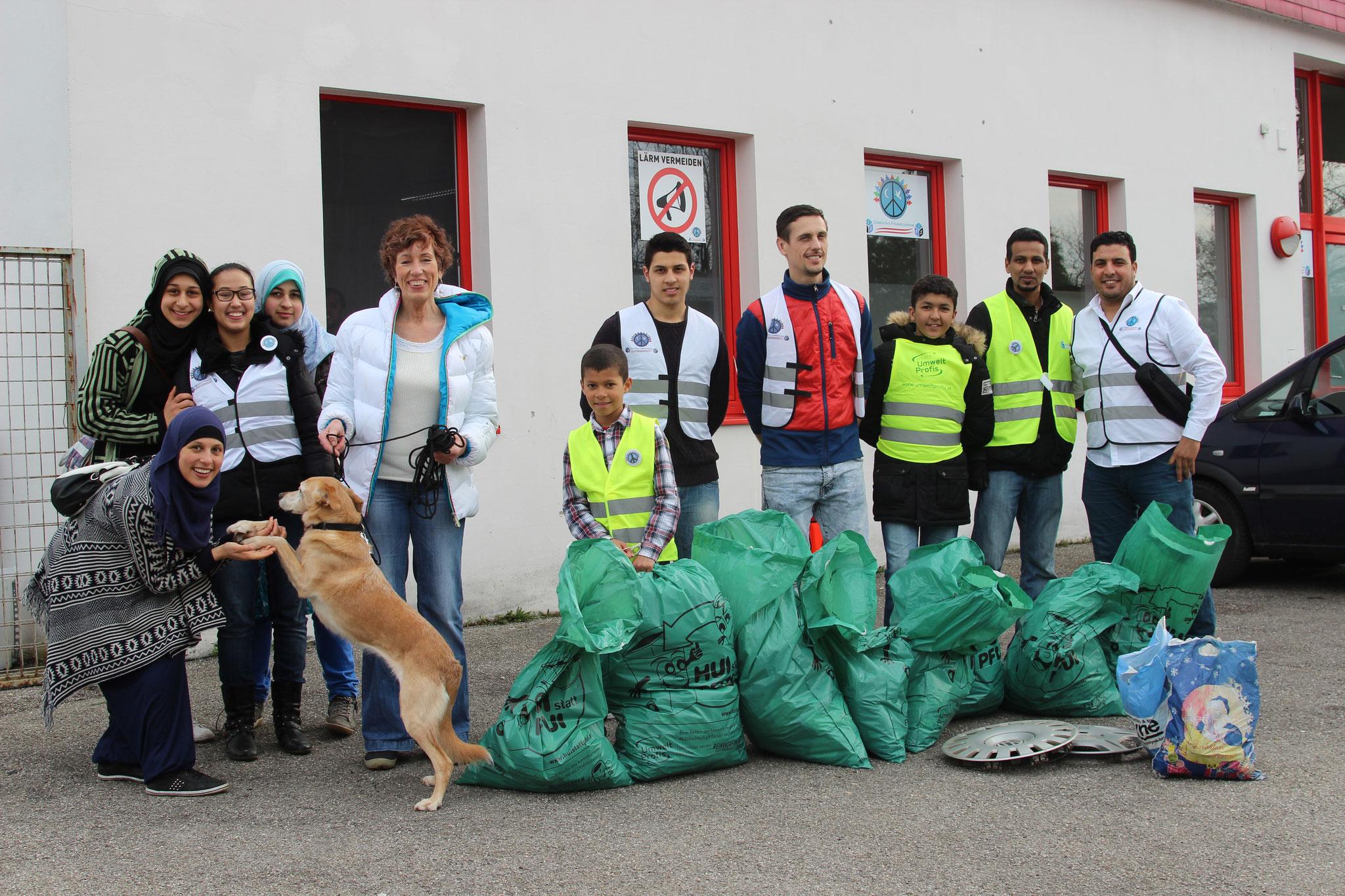 Ca. 50 kg Müll wurde in nur zwei Stunden gesammelt