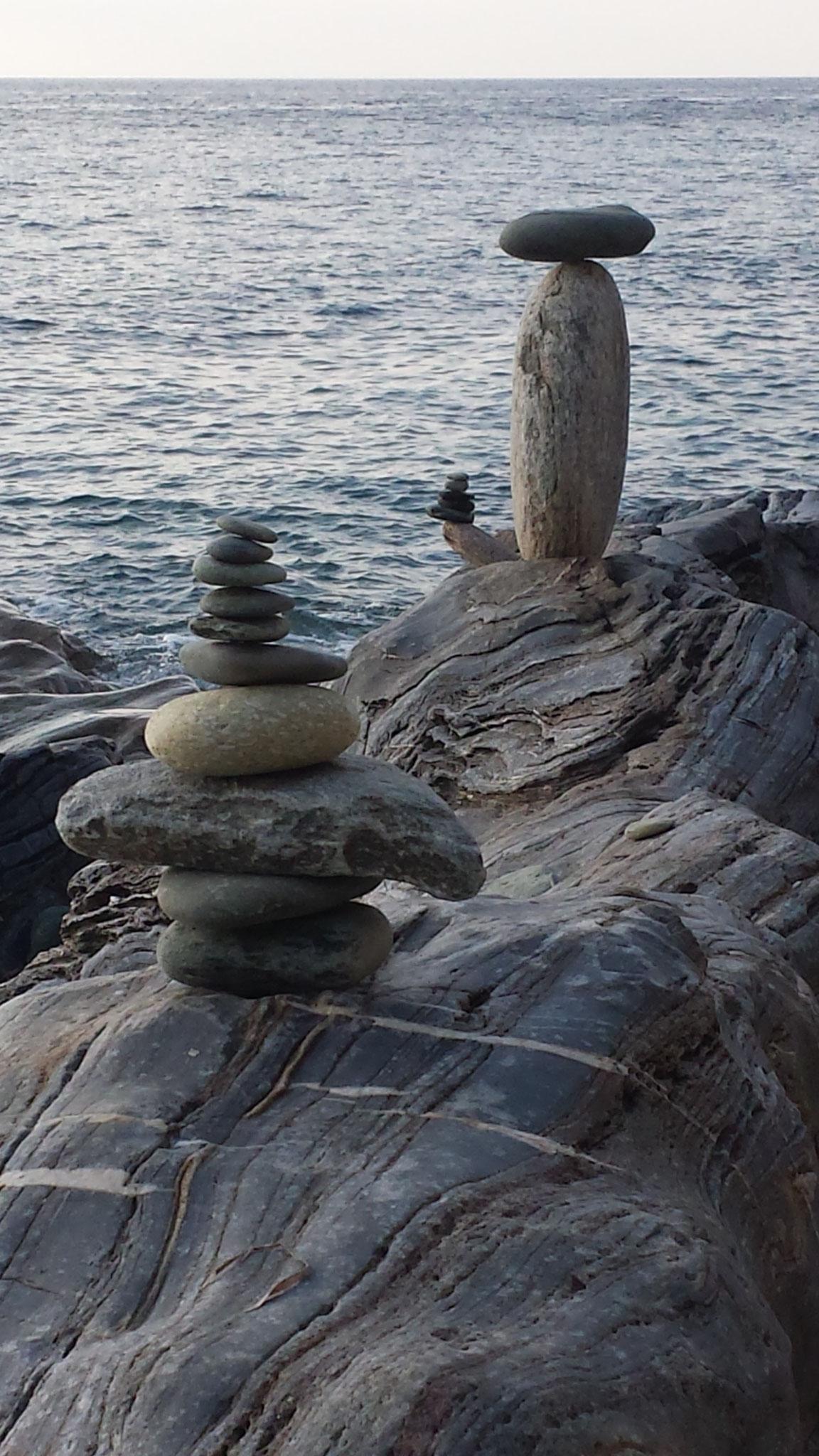 Sculpture sur la plage de Sisco