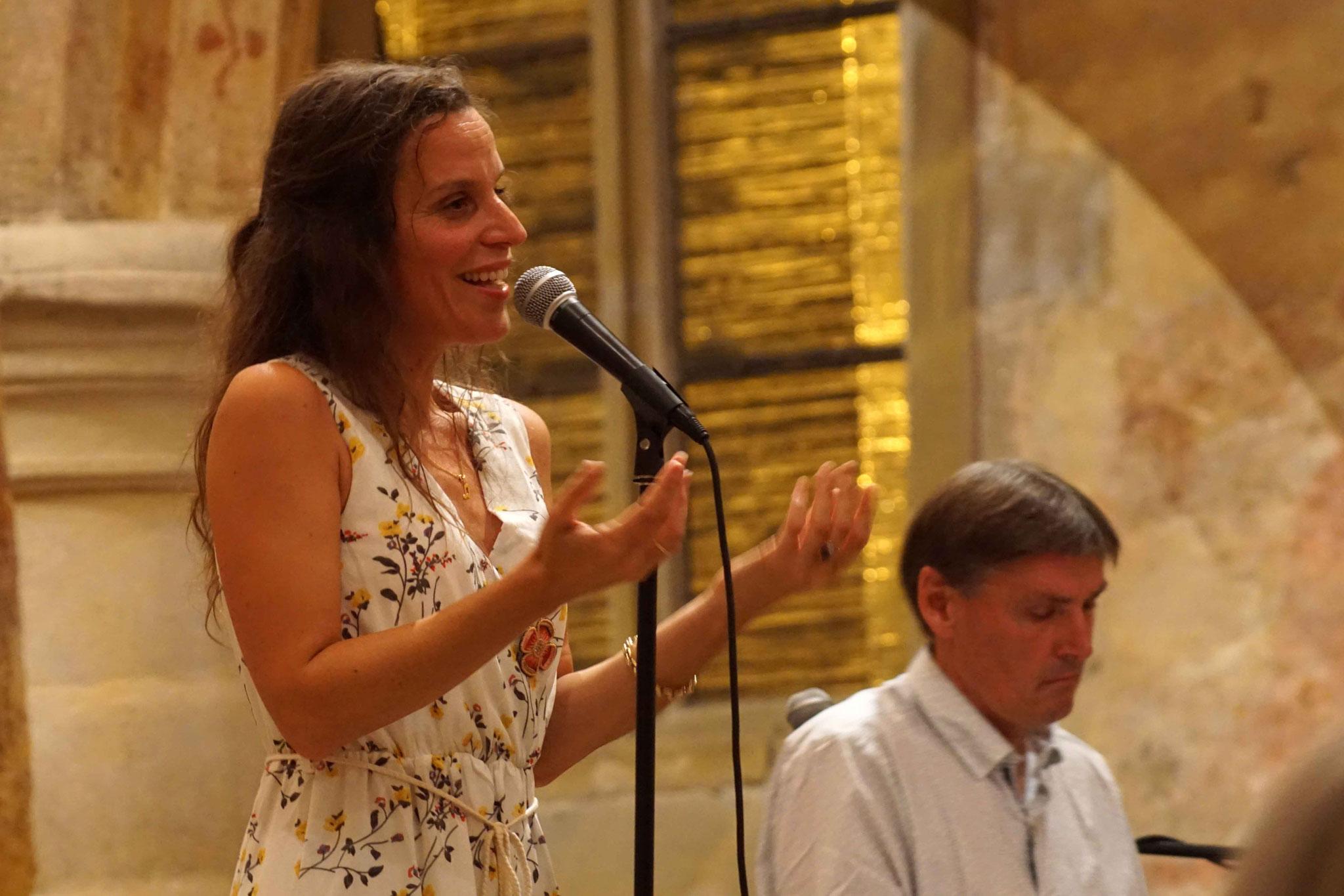 Clarisse Lavanant, Eglise de Morieux, avec Jean Marc Amis, le mercredi 22 août 2018