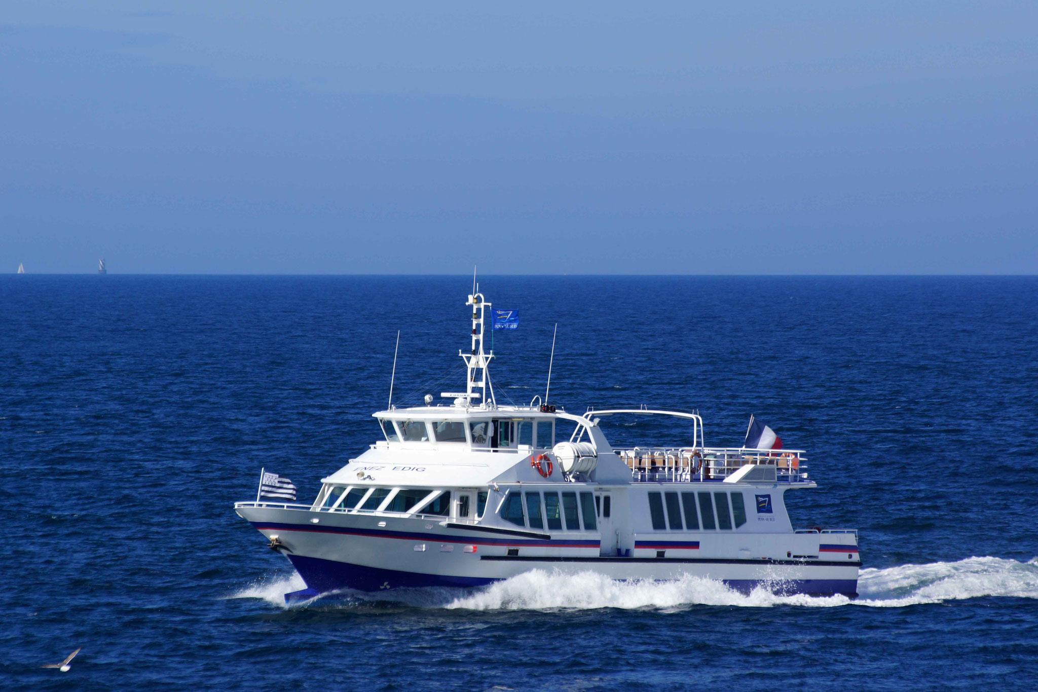 Enez Edig, nouveau bateau pour Ouessant et Molène