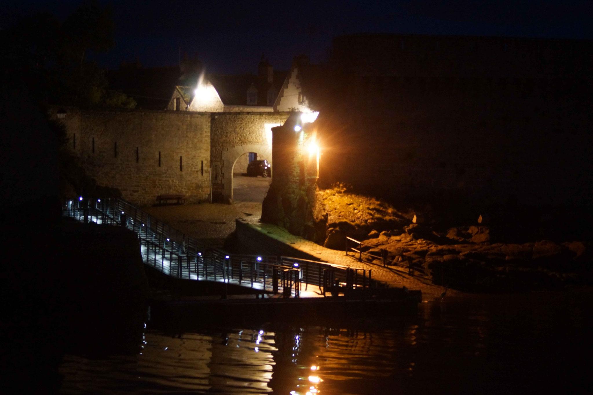 Passage de Lanriec, de nuit