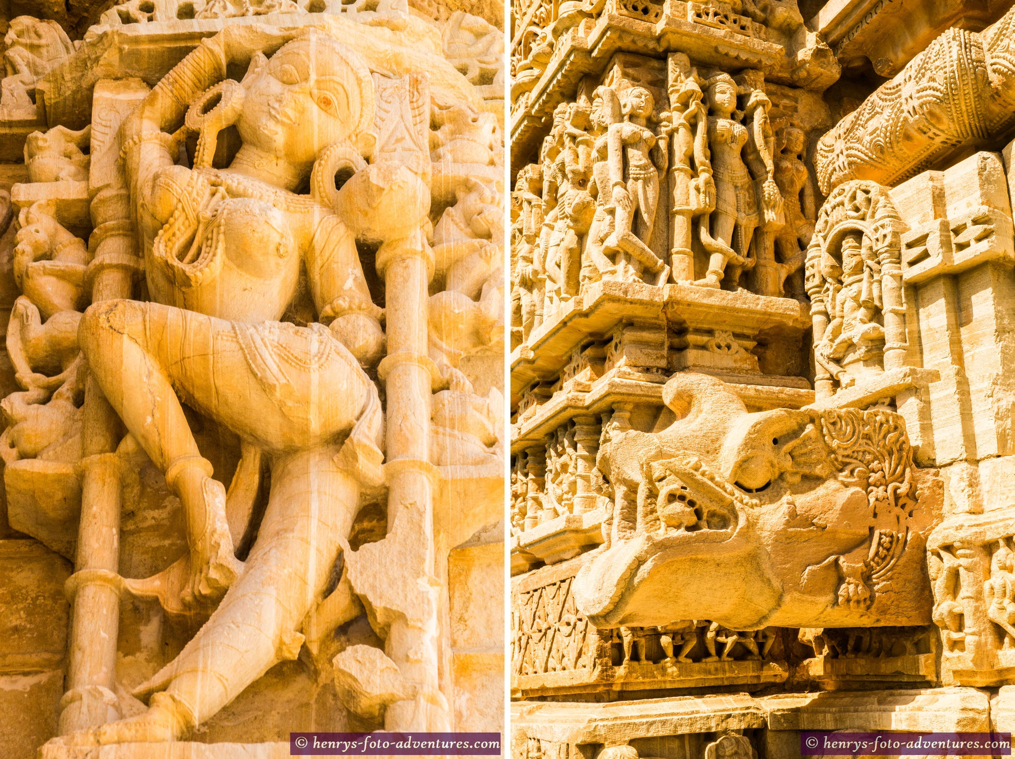Hindu-Tempel sind sind ein Zeugnis höchster Steinmetzkunst